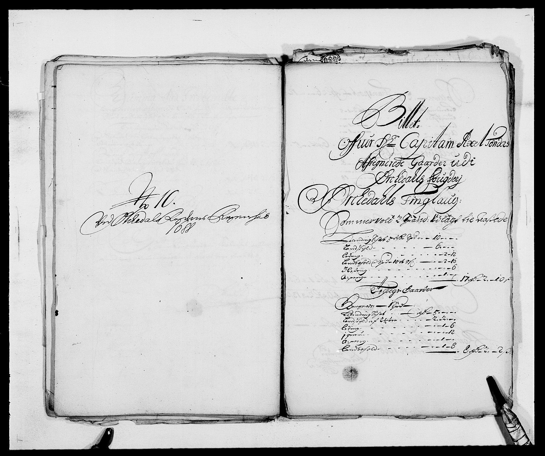 RA, Rentekammeret inntil 1814, Reviderte regnskaper, Fogderegnskap, R58/L3935: Fogderegnskap Orkdal, 1687-1688, s. 382