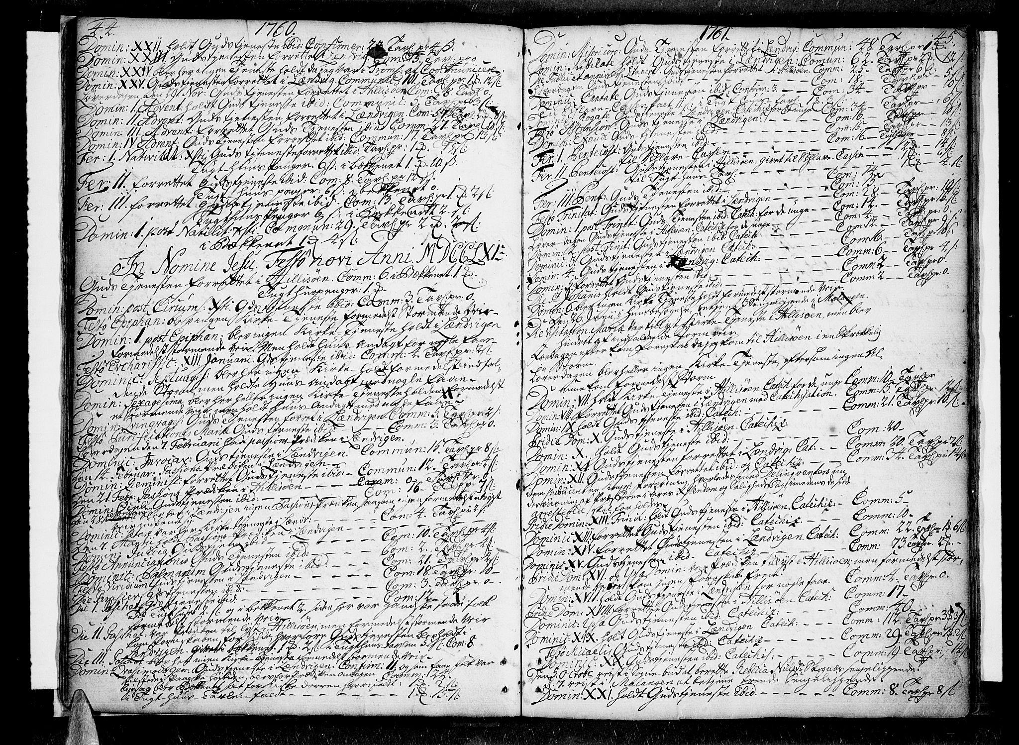 SATØ, Lenvik sokneprestembete, H/Ha: Ministerialbok nr. 1, 1753-1783, s. 44-45