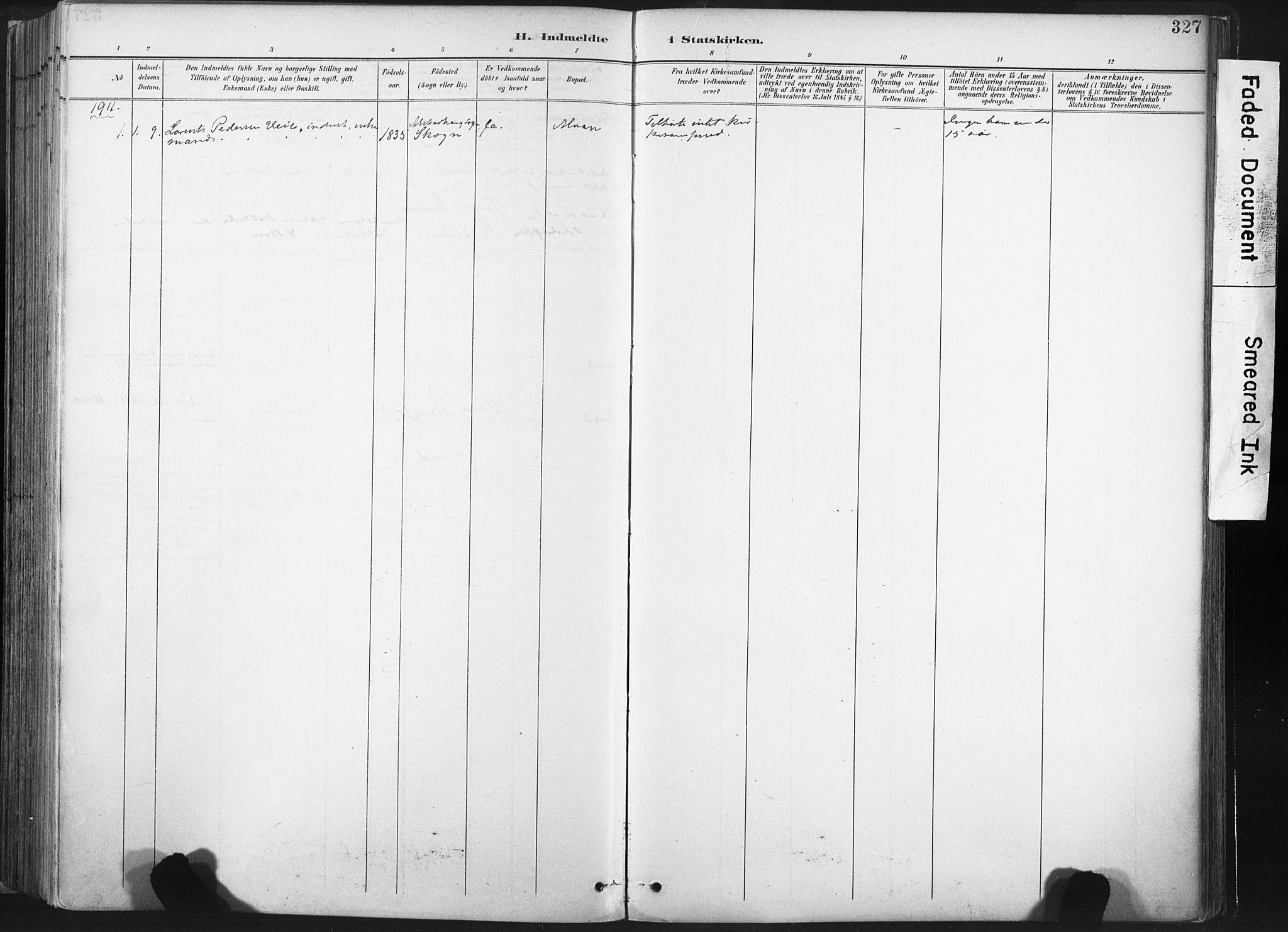 SAT, Ministerialprotokoller, klokkerbøker og fødselsregistre - Nord-Trøndelag, 717/L0162: Ministerialbok nr. 717A12, 1898-1923, s. 327