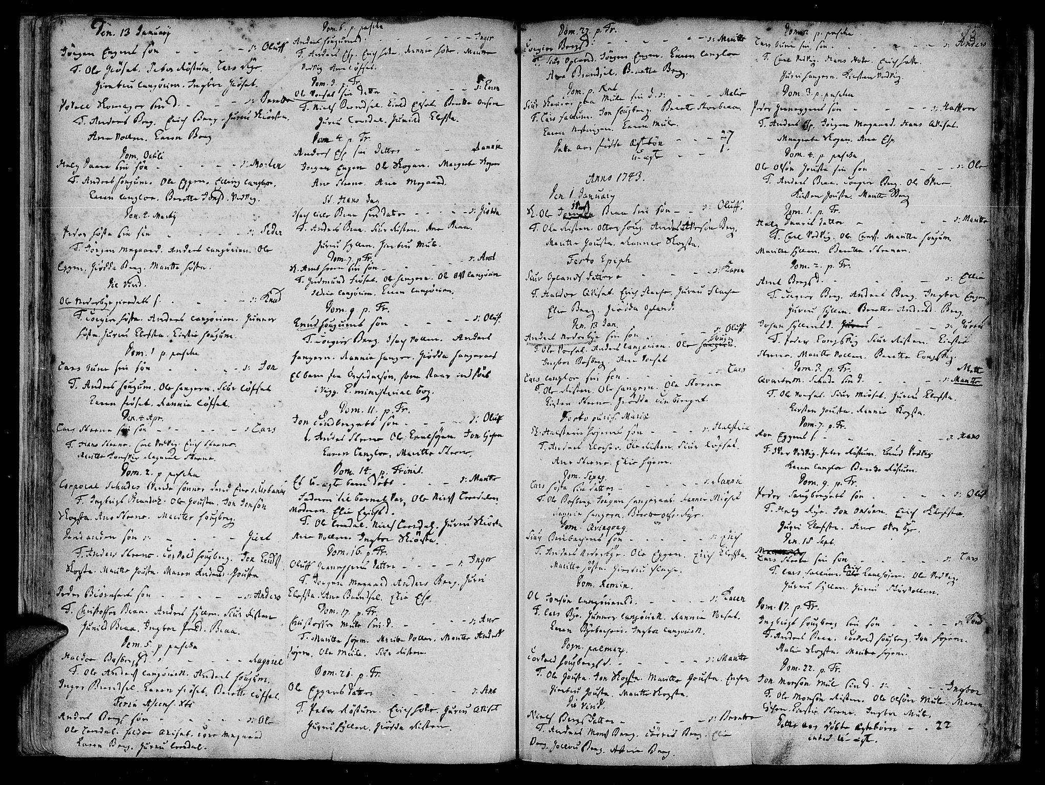 SAT, Ministerialprotokoller, klokkerbøker og fødselsregistre - Sør-Trøndelag, 612/L0368: Ministerialbok nr. 612A02, 1702-1753, s. 35