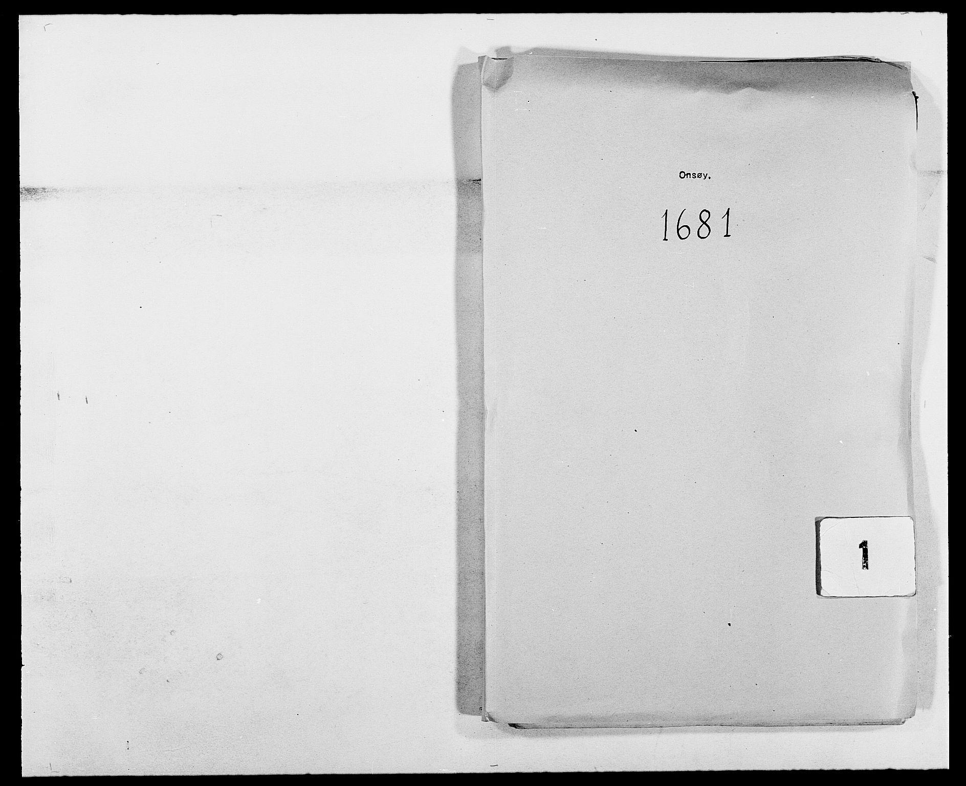 RA, Rentekammeret inntil 1814, Reviderte regnskaper, Fogderegnskap, R03/L0112: Fogderegnskap Onsøy, Tune, Veme og Åbygge fogderi, 1681-1683, s. 1
