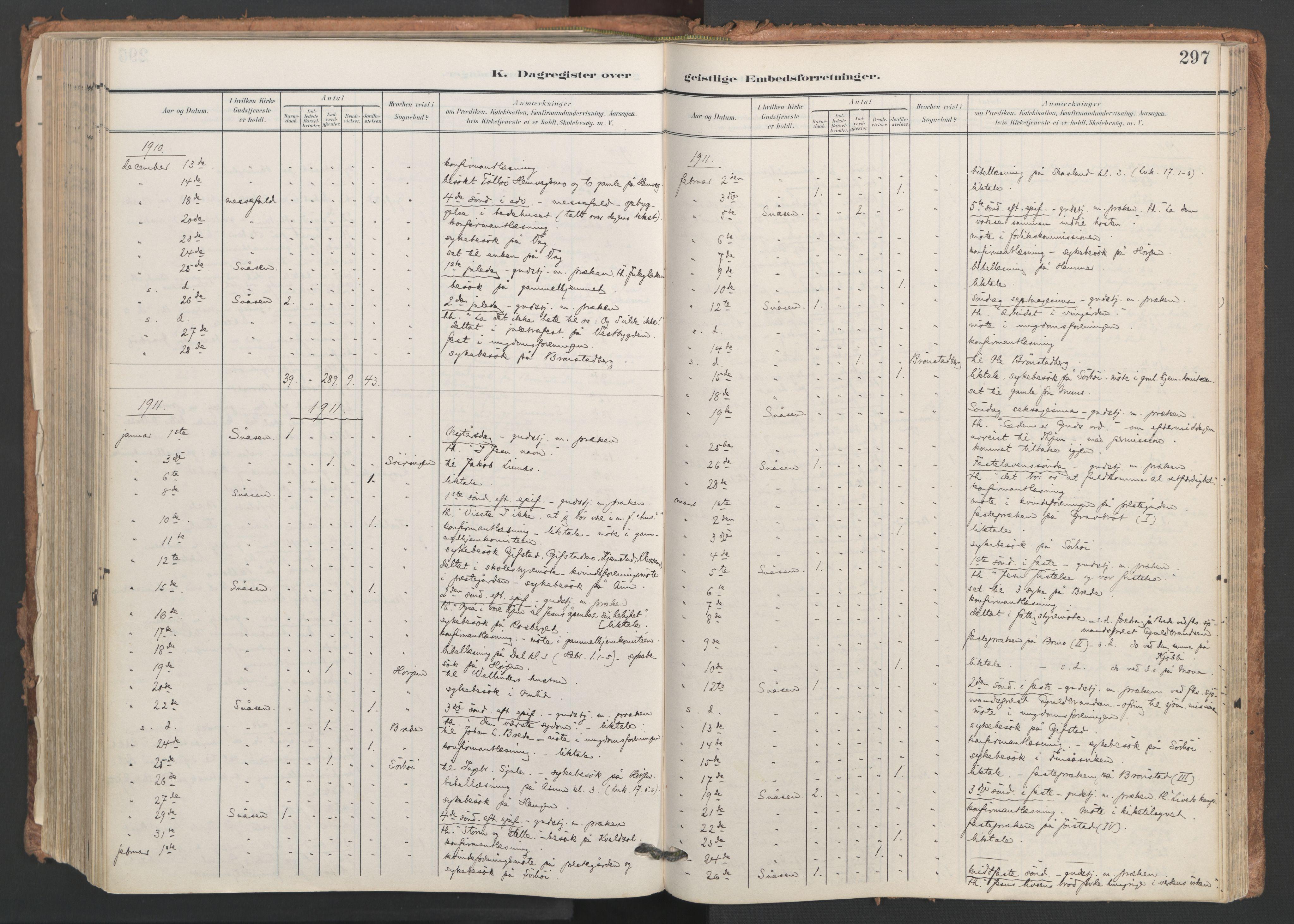 SAT, Ministerialprotokoller, klokkerbøker og fødselsregistre - Nord-Trøndelag, 749/L0477: Ministerialbok nr. 749A11, 1902-1927, s. 297