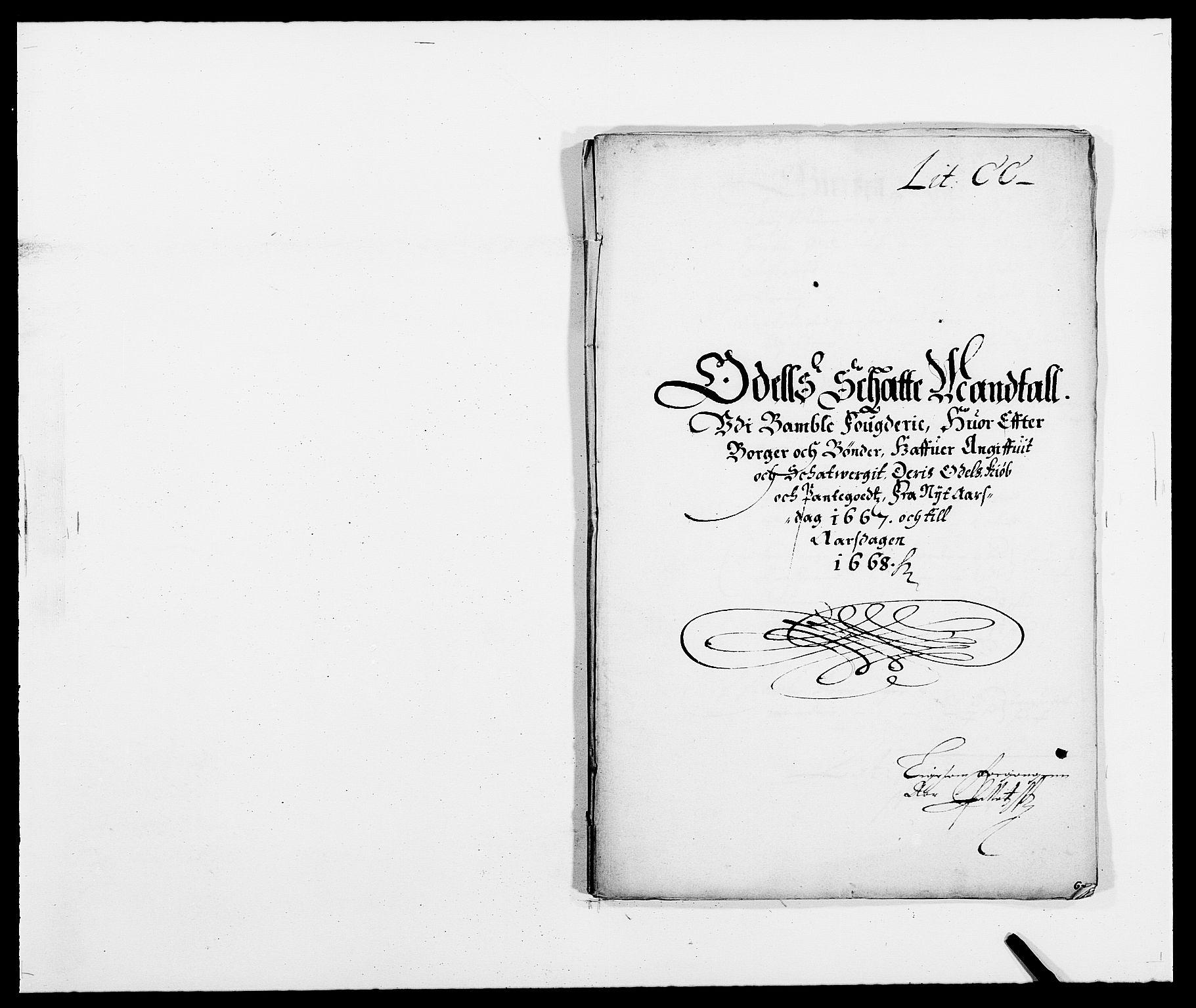 RA, Rentekammeret inntil 1814, Reviderte regnskaper, Fogderegnskap, R34/L2039: Fogderegnskap Bamble, 1662-1669, s. 249