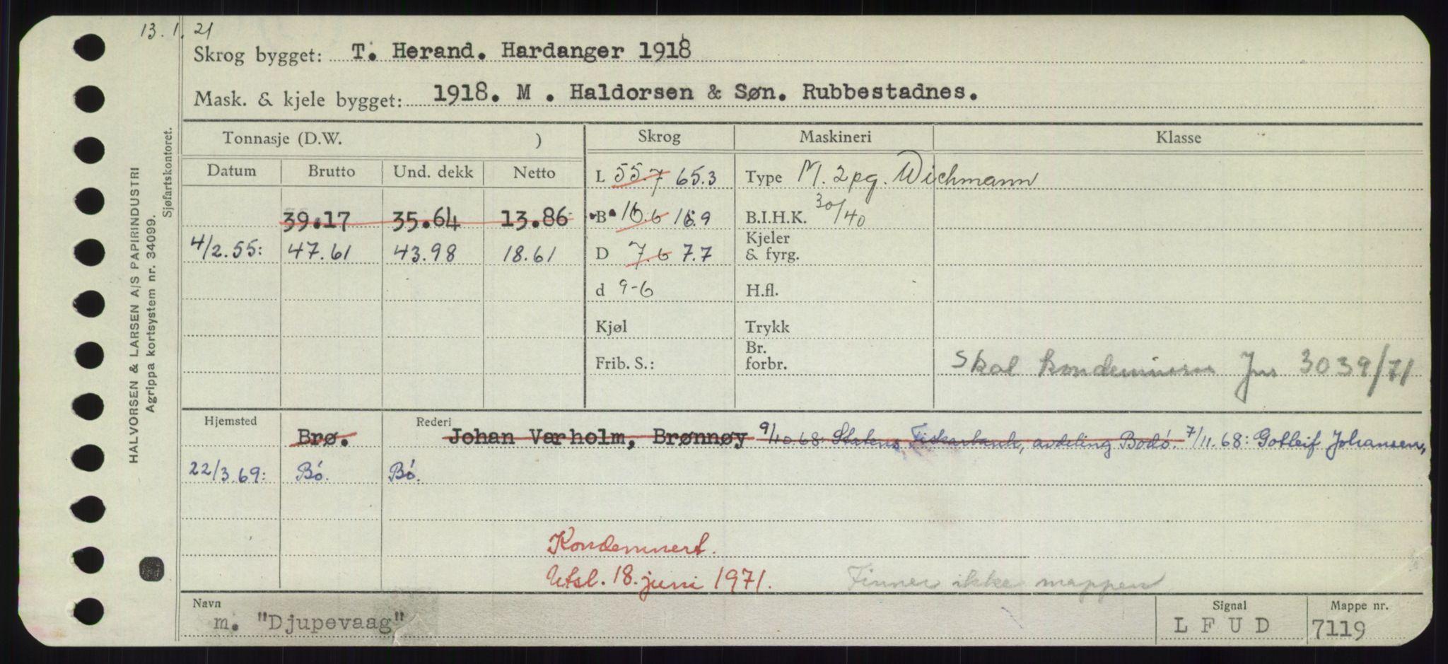 RA, Sjøfartsdirektoratet med forløpere, Skipsmålingen, H/Hd/L0008: Fartøy, C-D, s. 545
