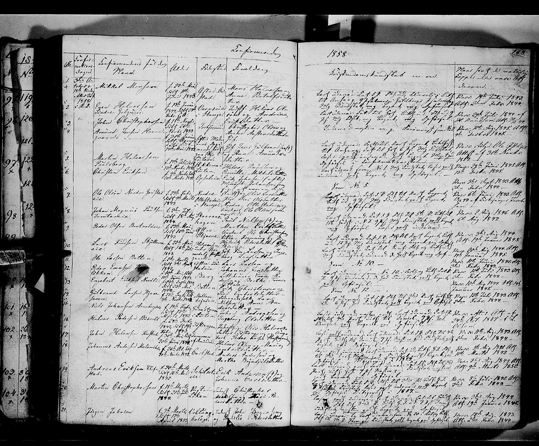 SAH, Romedal prestekontor, K/L0004: Ministerialbok nr. 4, 1847-1861, s. 168