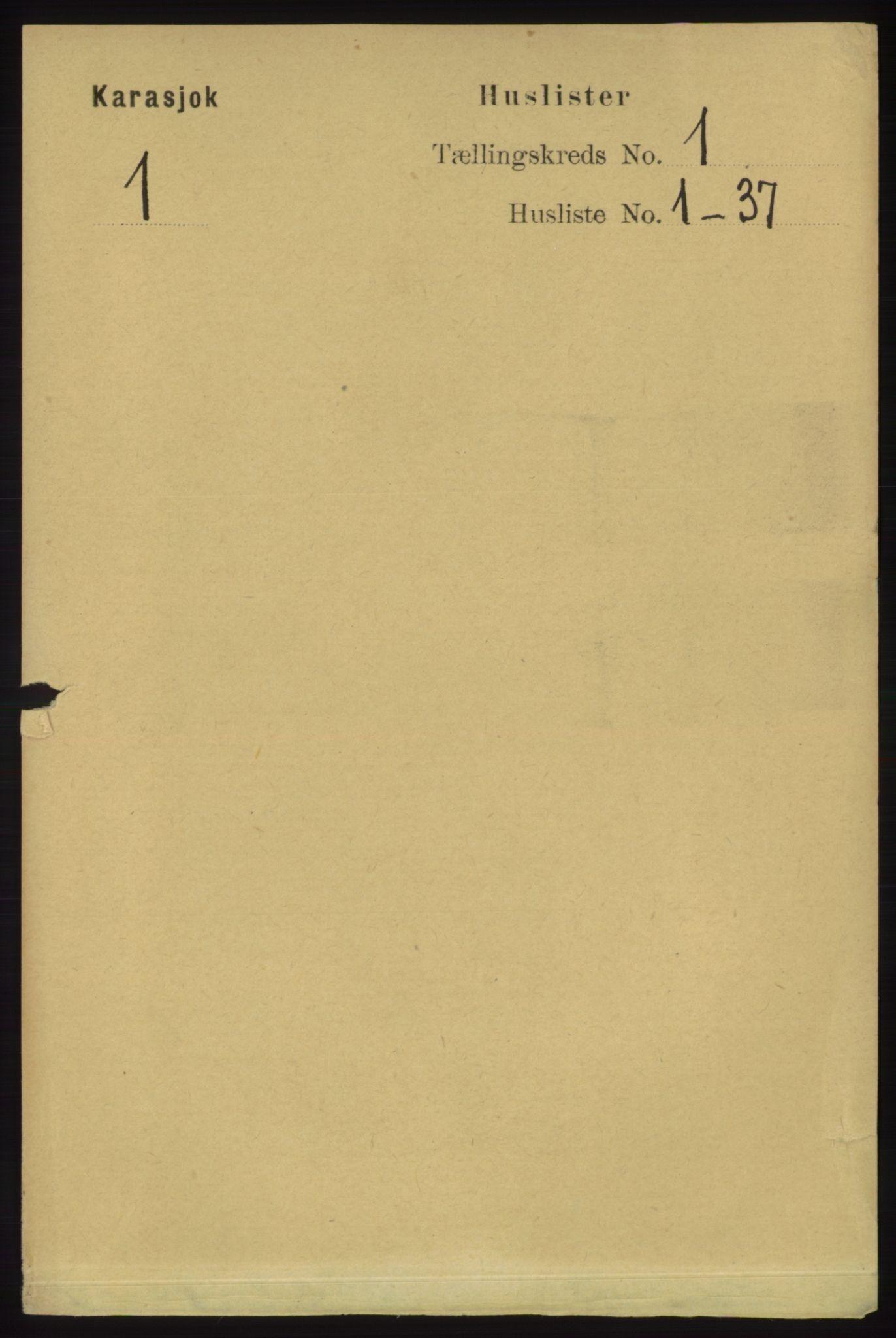 RA, Folketelling 1891 for 2021 Karasjok herred, 1891, s. 13