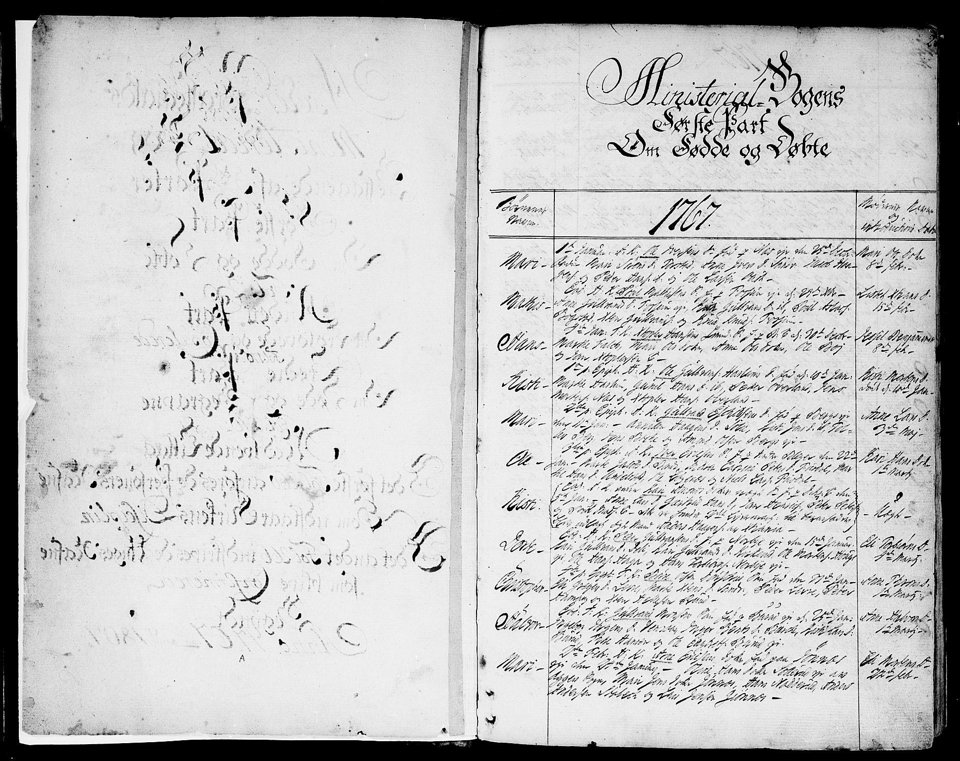 SAO, Asker prestekontor Kirkebøker, F/Fa/L0003: Ministerialbok nr. I 3, 1767-1807, s. 2