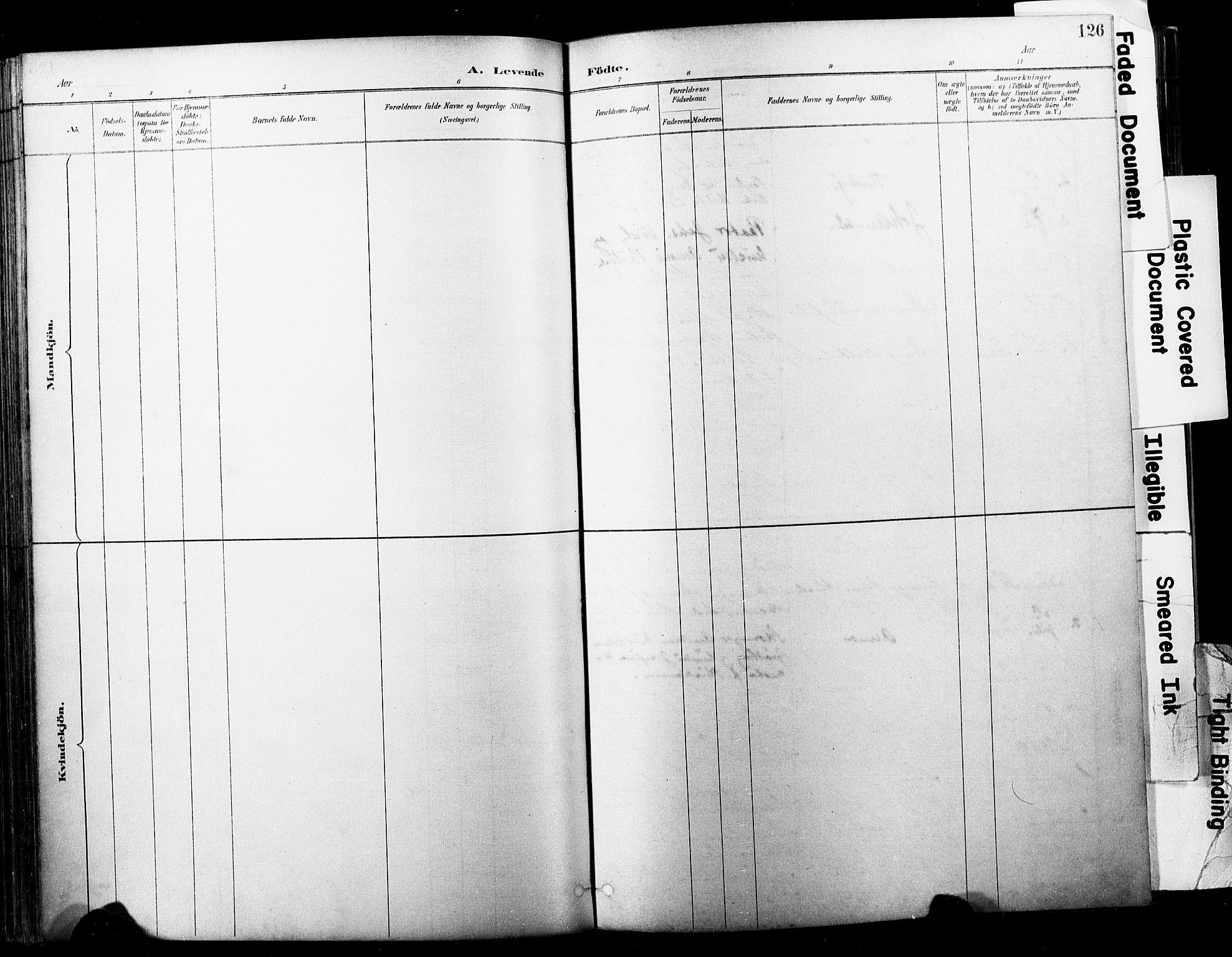 SAKO, Horten kirkebøker, F/Fa/L0004: Ministerialbok nr. 4, 1888-1895, s. 126