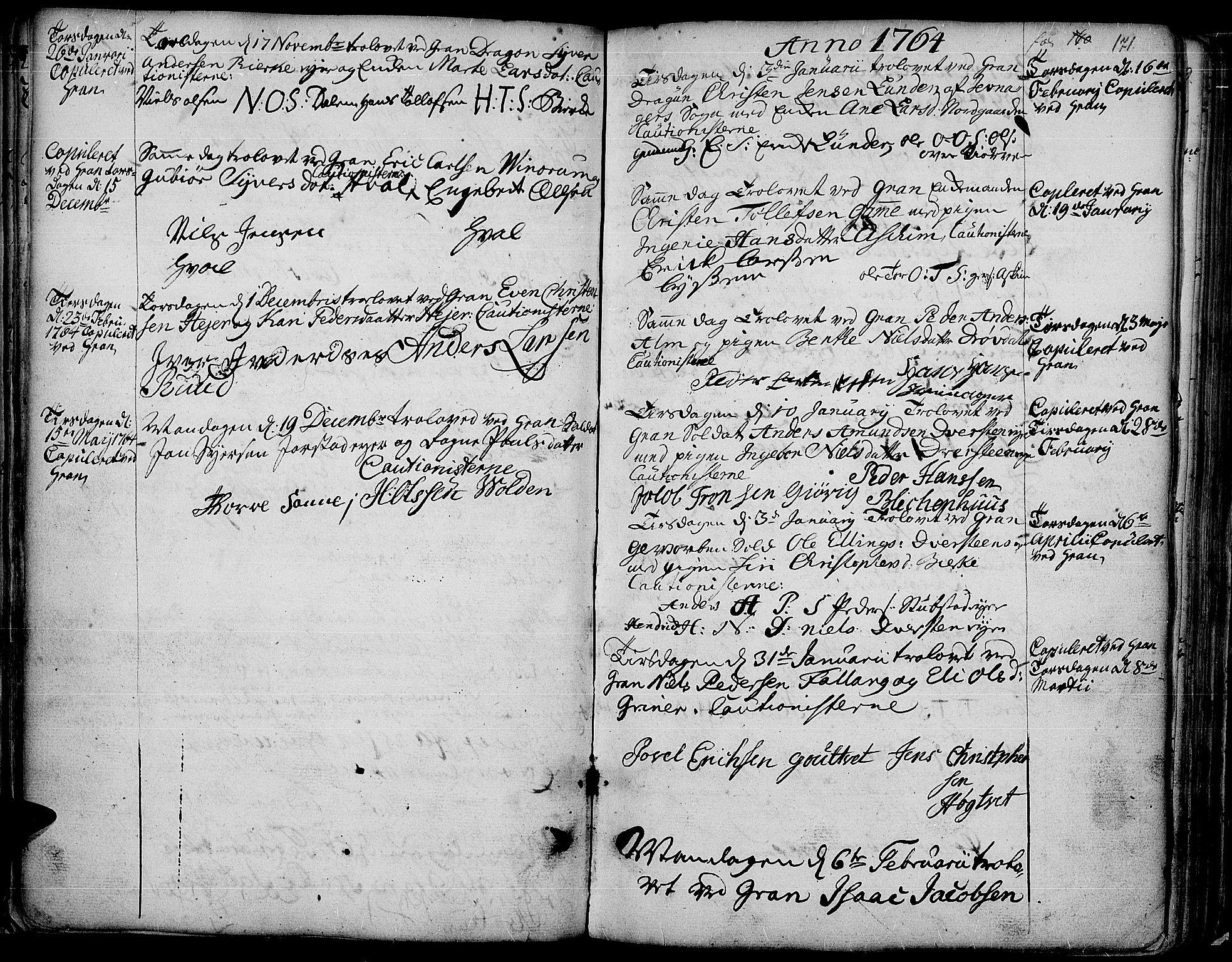 SAH, Gran prestekontor, Ministerialbok nr. 4, 1759-1775, s. 171