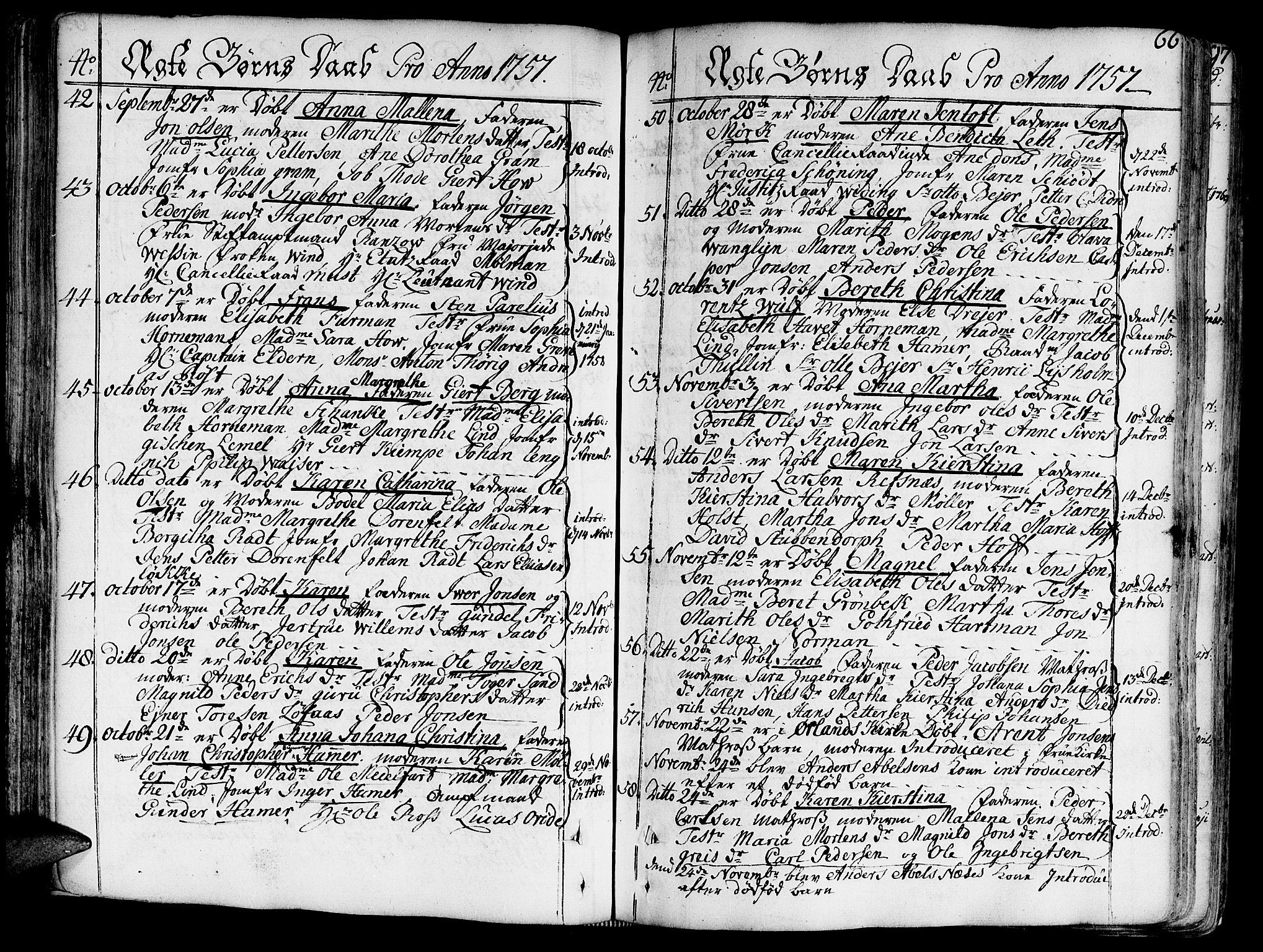 SAT, Ministerialprotokoller, klokkerbøker og fødselsregistre - Sør-Trøndelag, 602/L0103: Ministerialbok nr. 602A01, 1732-1774, s. 66