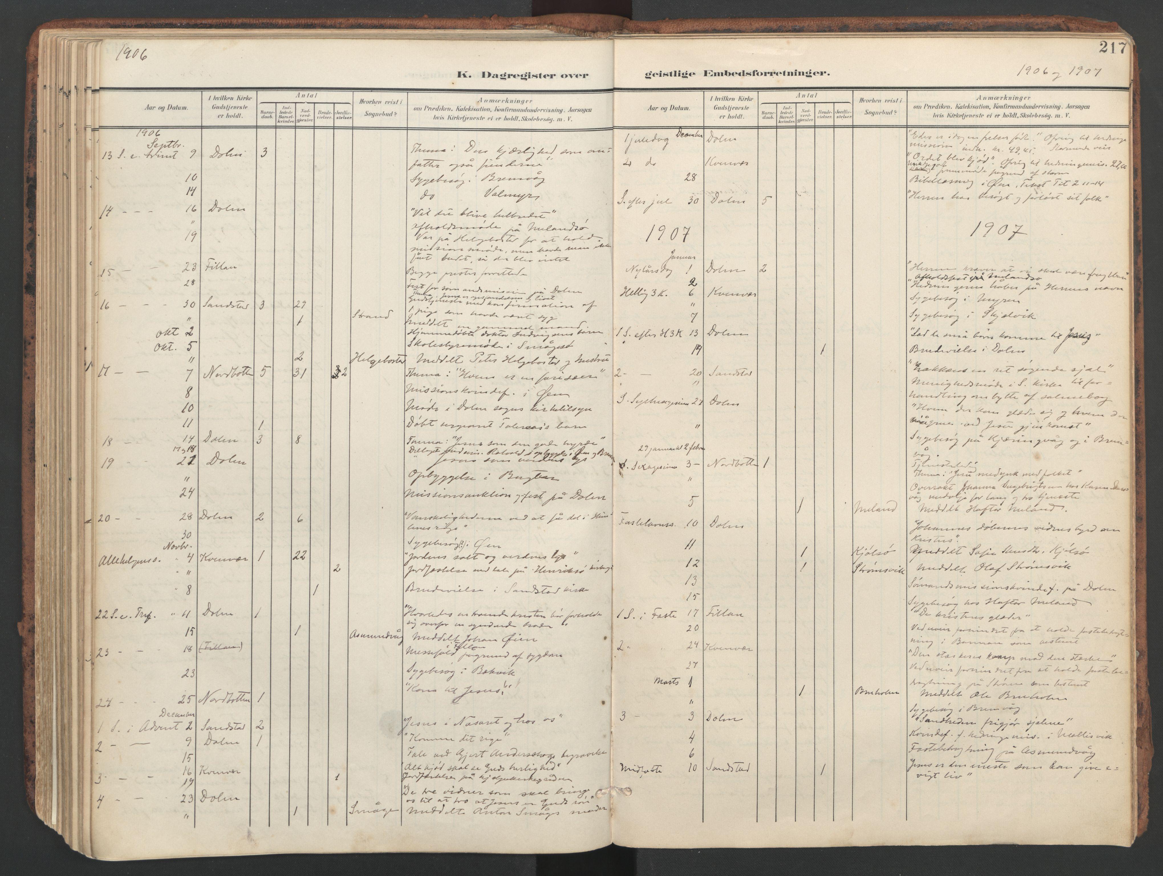 SAT, Ministerialprotokoller, klokkerbøker og fødselsregistre - Sør-Trøndelag, 634/L0537: Ministerialbok nr. 634A13, 1896-1922, s. 217