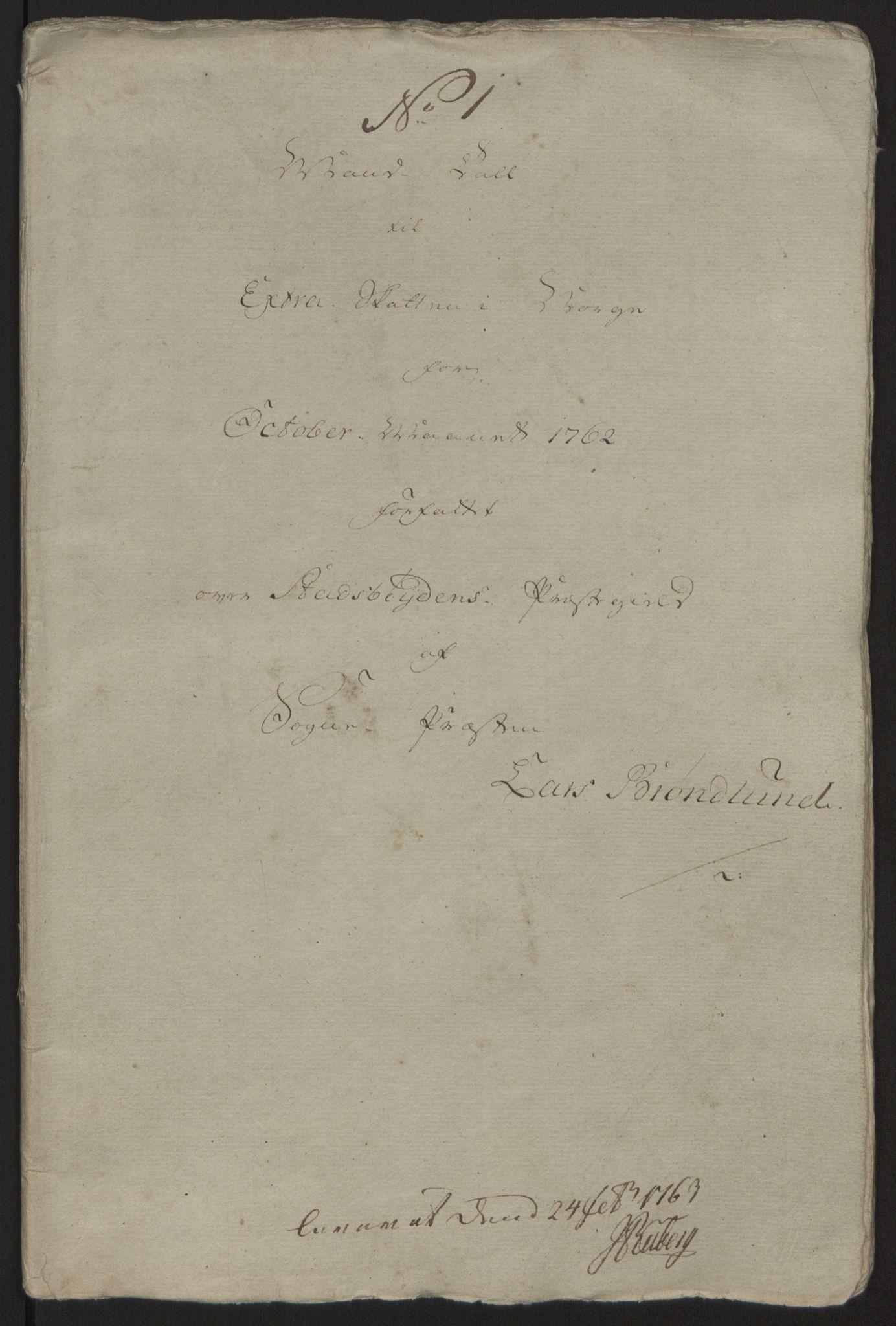 RA, Rentekammeret inntil 1814, Reviderte regnskaper, Fogderegnskap, R57/L3930: Ekstraskatten Fosen, 1762-1763, s. 311
