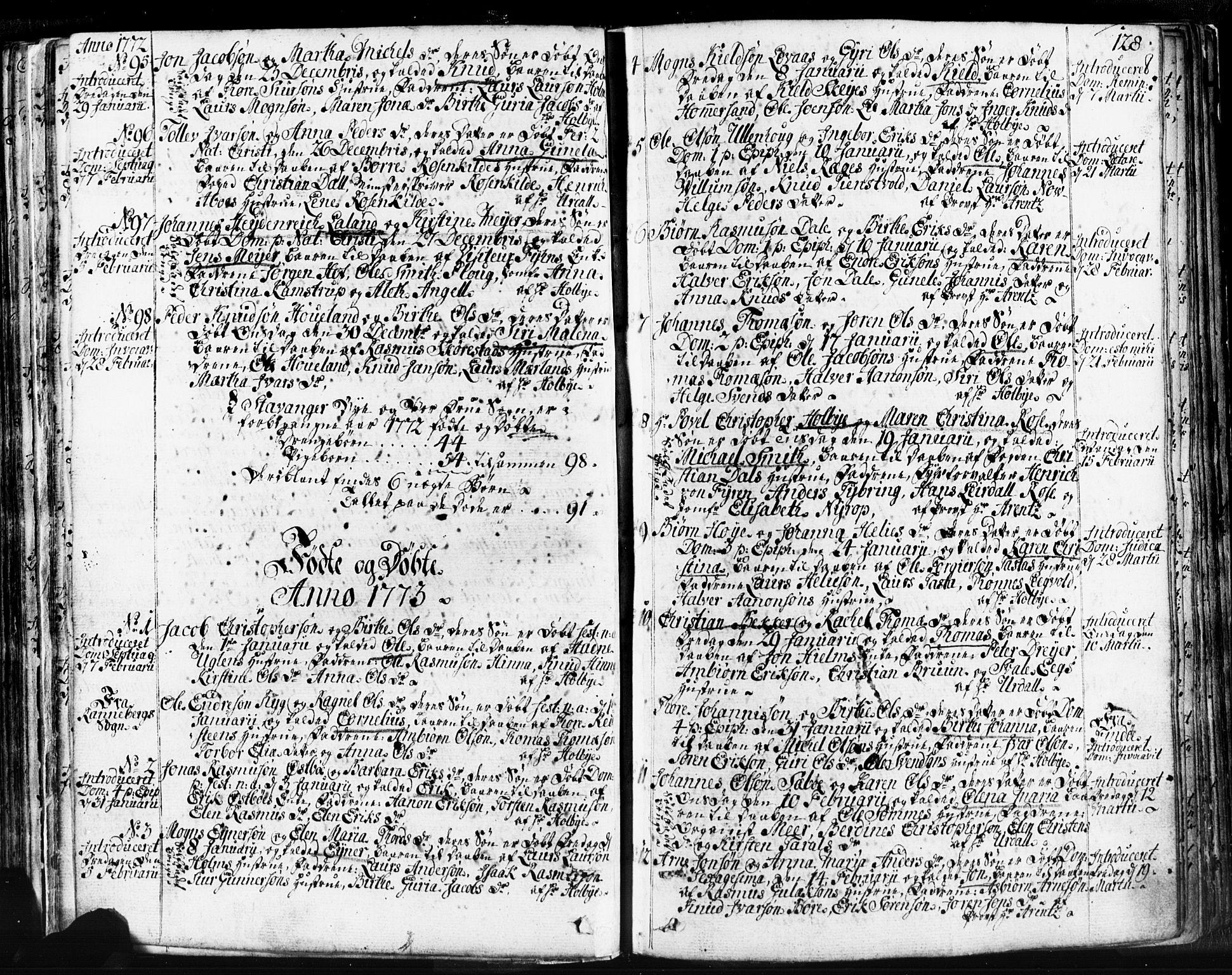 SAST, Domkirken sokneprestkontor, 30/30BB/L0004: Klokkerbok nr. B 4, 1752-1790, s. 128