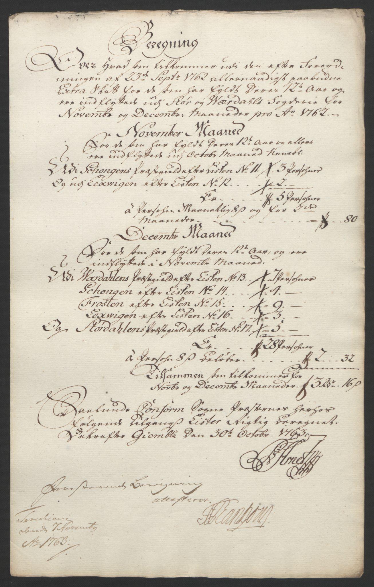 RA, Rentekammeret inntil 1814, Reviderte regnskaper, Fogderegnskap, R62/L4303: Ekstraskatten Stjørdal og Verdal, 1762-1763, s. 29