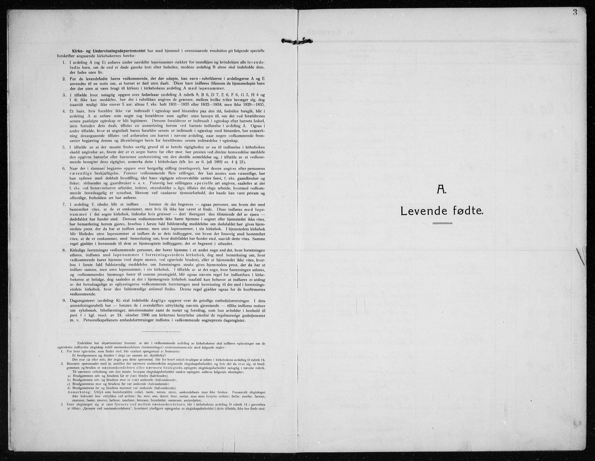 SAST, Time sokneprestkontor, 30BB/L0001: Klokkerbok nr. B 1, 1910-1932, s. 3