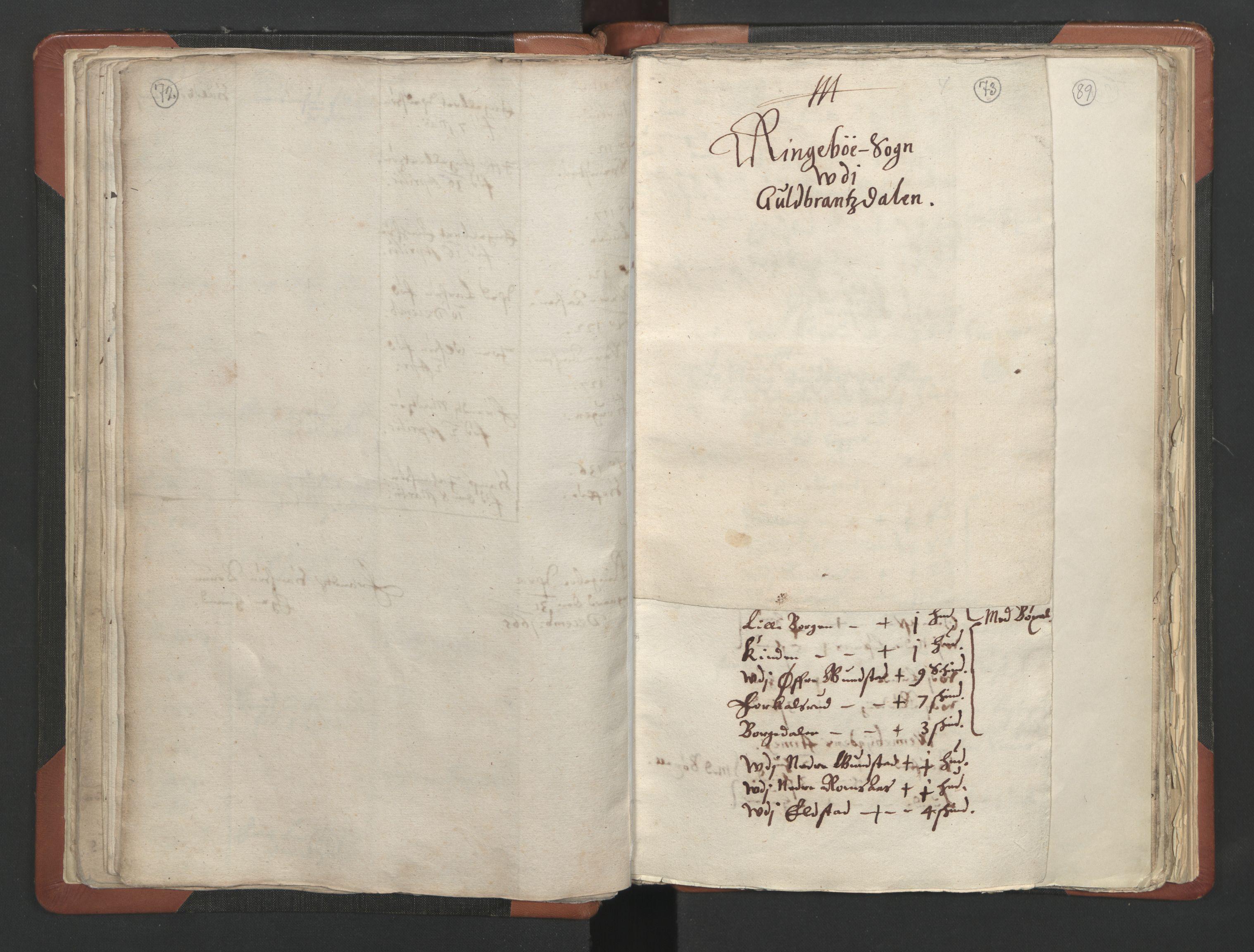 RA, Sogneprestenes manntall 1664-1666, nr. 6: Gudbrandsdal prosti, 1664-1666, s. 72-73