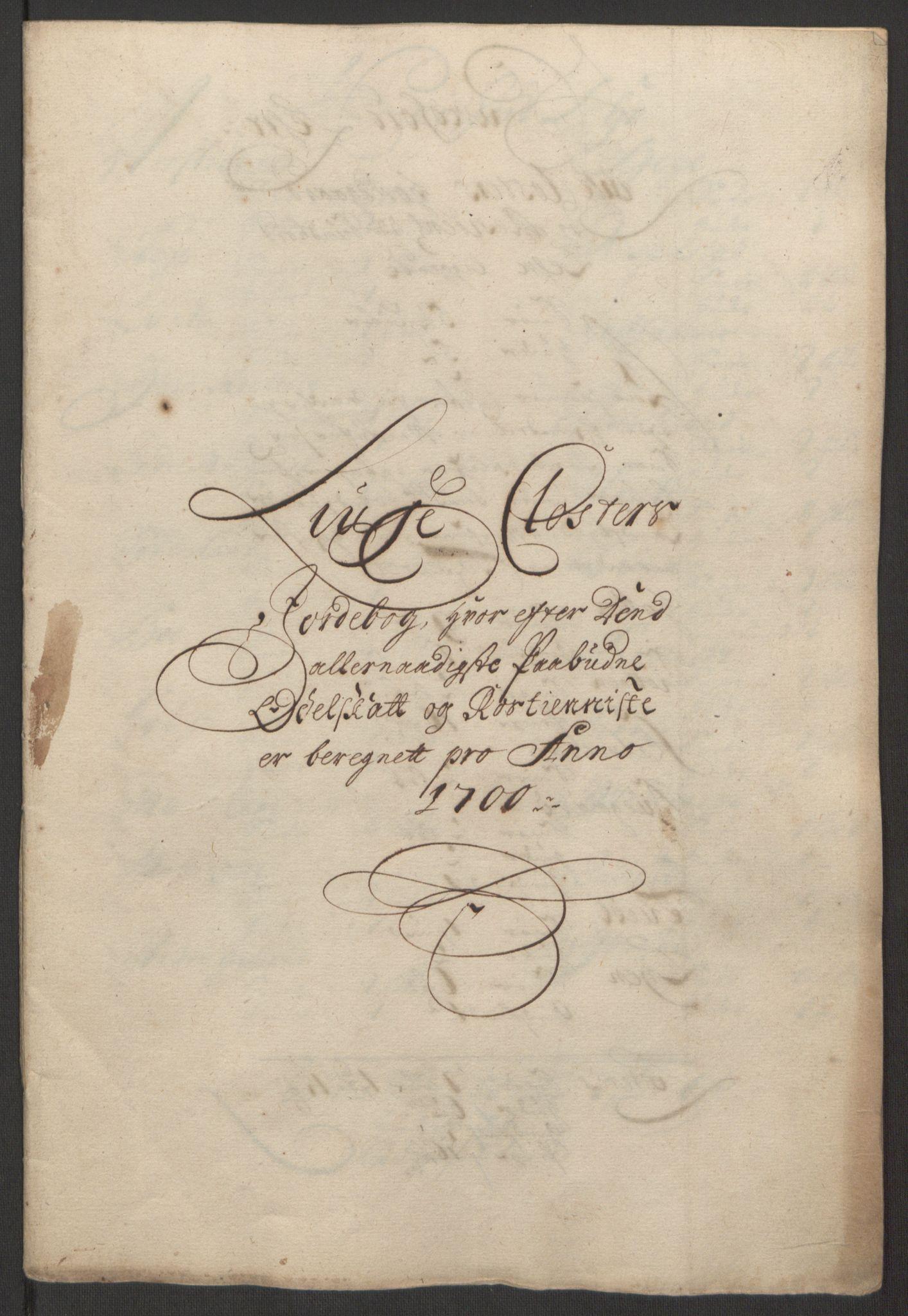 RA, Rentekammeret inntil 1814, Reviderte regnskaper, Fogderegnskap, R50/L3159: Fogderegnskap Lyse kloster, 1691-1709, s. 119