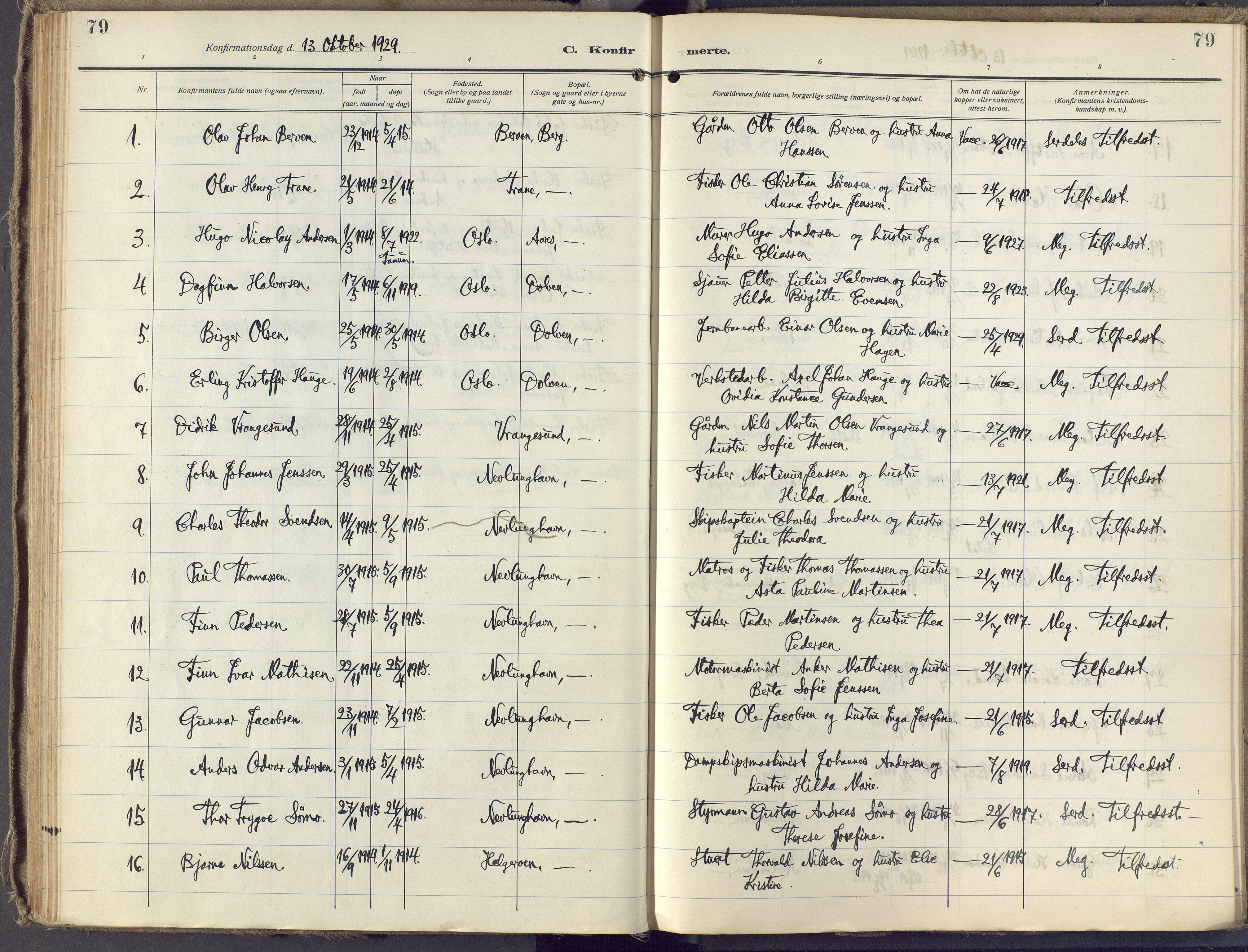 SAKO, Brunlanes kirkebøker, F/Fb/L0004: Ministerialbok nr. II 4, 1923-1940, s. 79