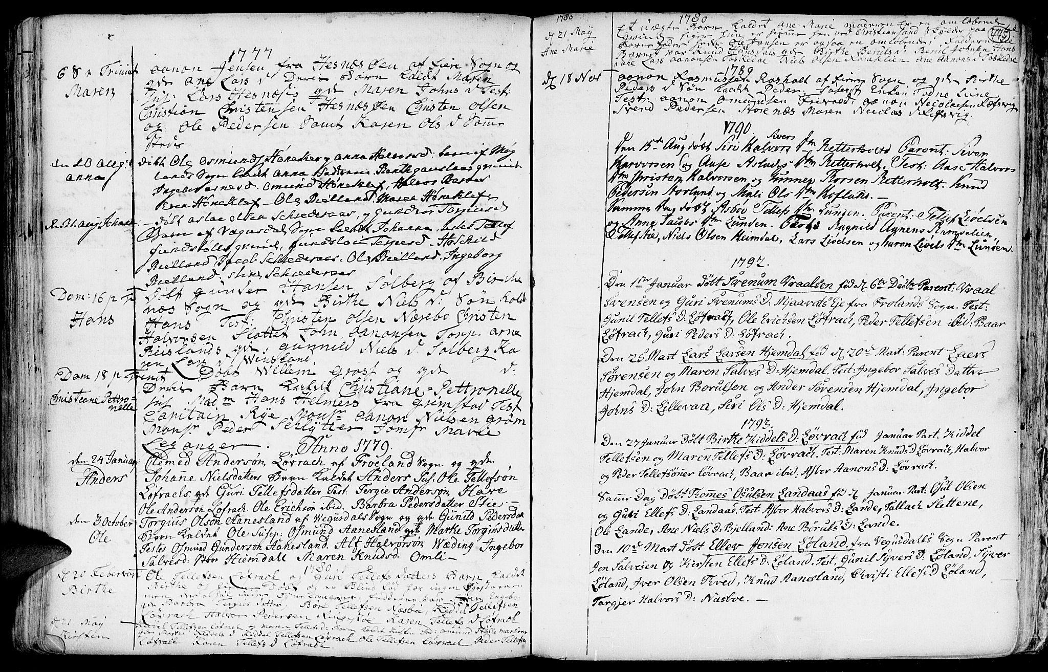 SAK, Hommedal sokneprestkontor, F/Fa/Fab/L0002: Ministerialbok nr. A 2 /3, 1740-1821, s. 445