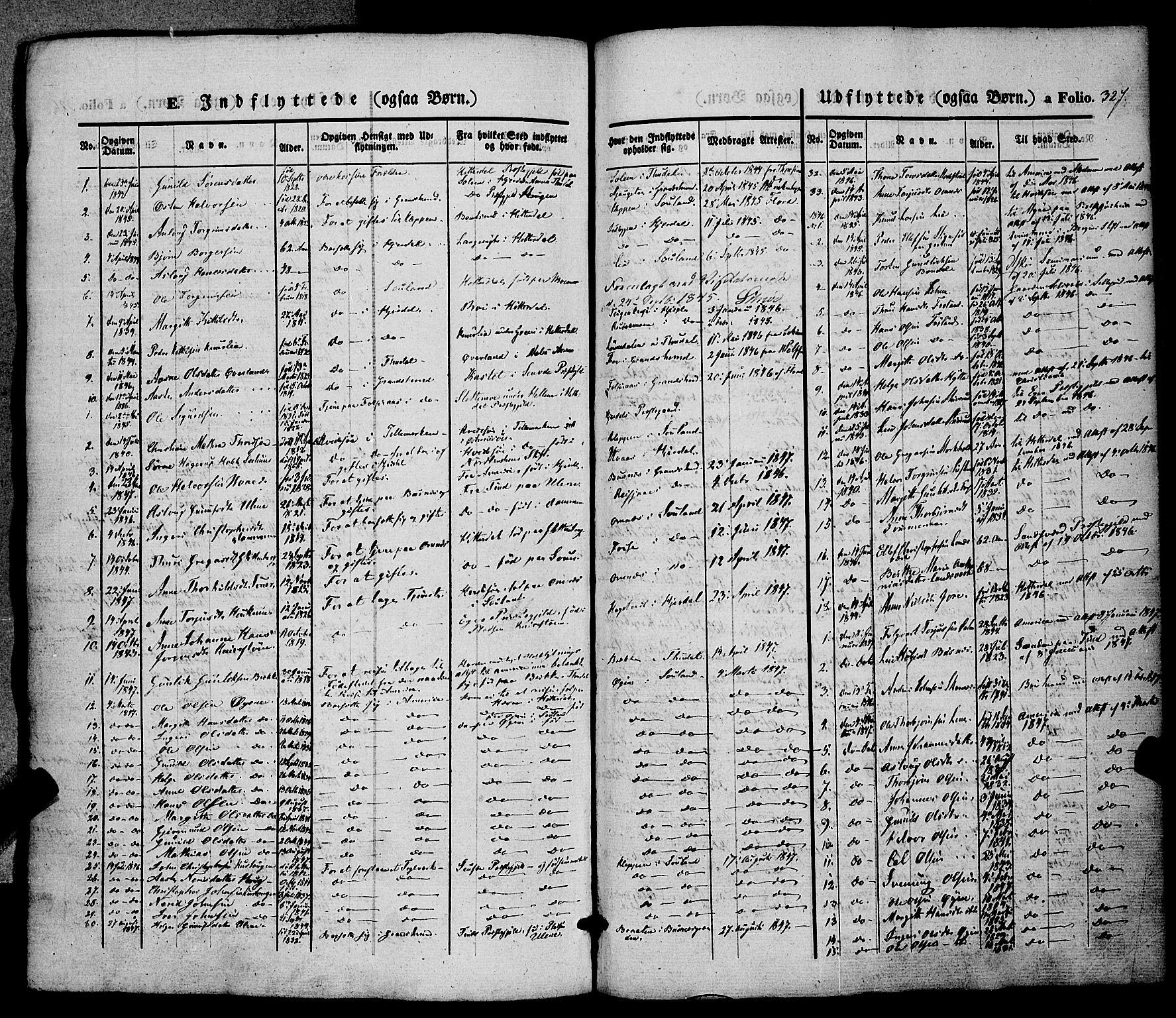SAKO, Hjartdal kirkebøker, F/Fa/L0008: Ministerialbok nr. I 8, 1844-1859, s. 327