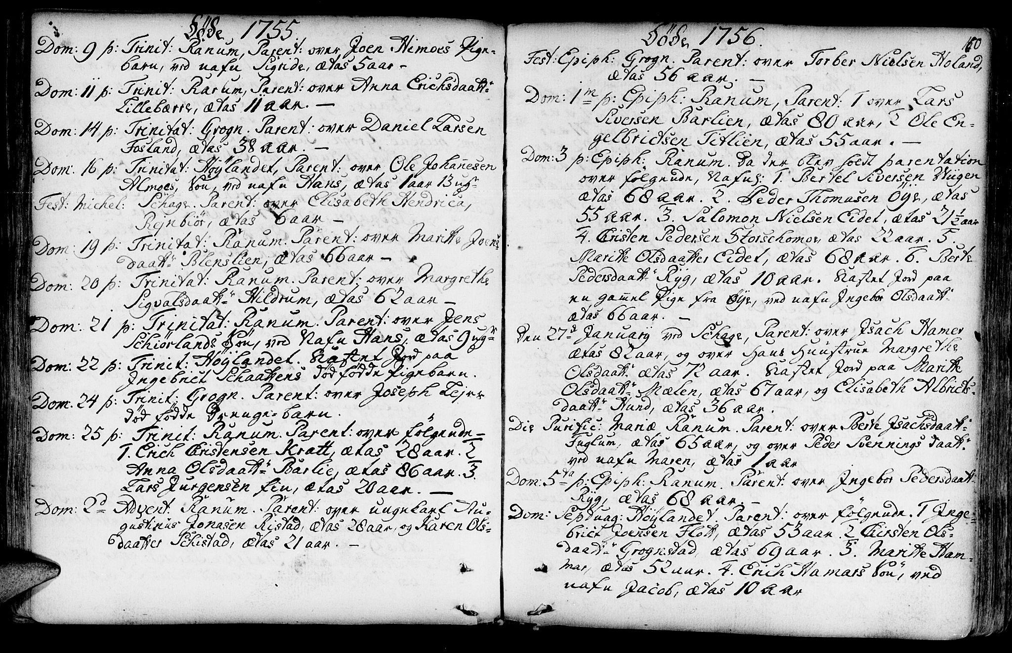 SAT, Ministerialprotokoller, klokkerbøker og fødselsregistre - Nord-Trøndelag, 764/L0542: Ministerialbok nr. 764A02, 1748-1779, s. 160