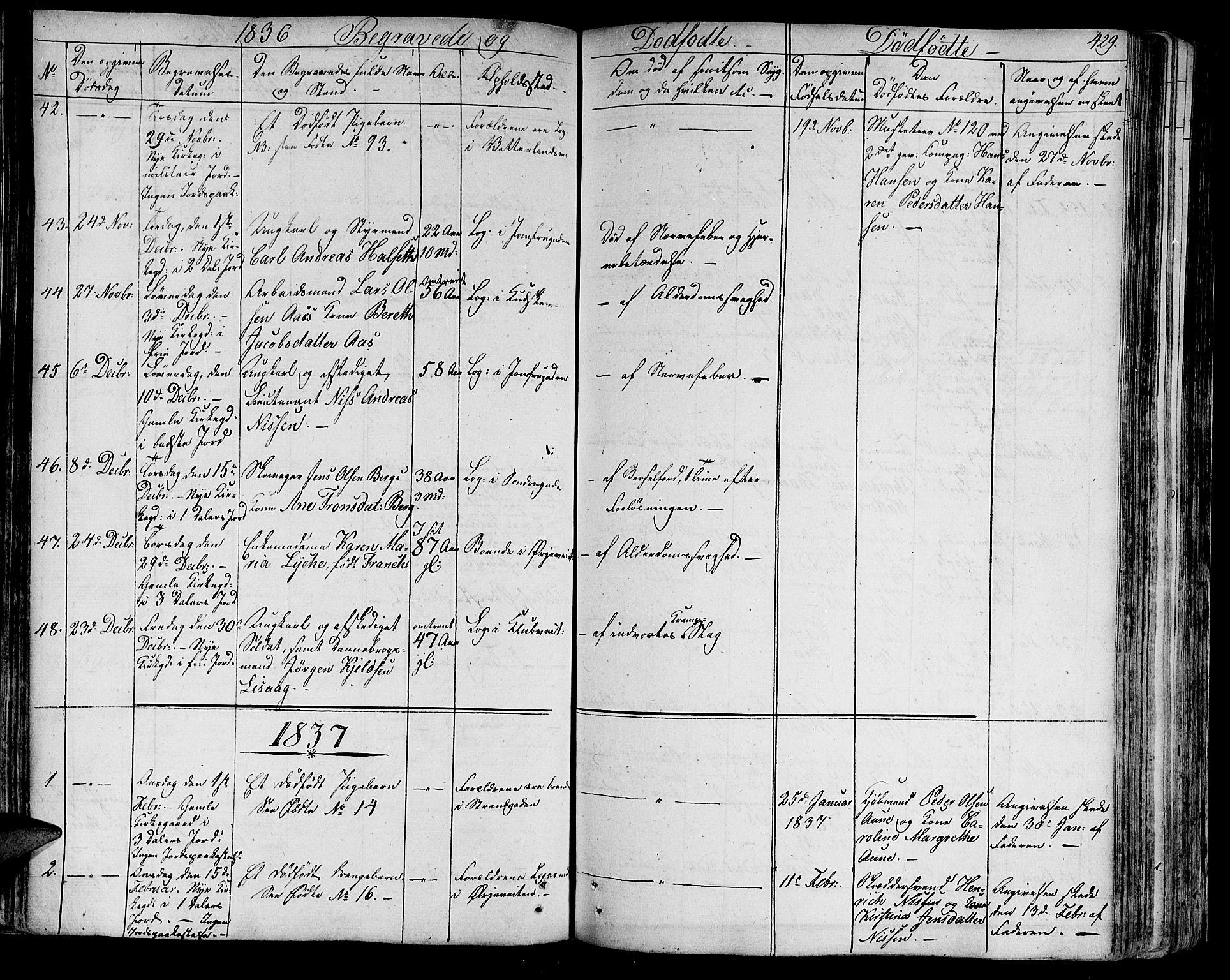 SAT, Ministerialprotokoller, klokkerbøker og fødselsregistre - Sør-Trøndelag, 602/L0109: Ministerialbok nr. 602A07, 1821-1840, s. 429