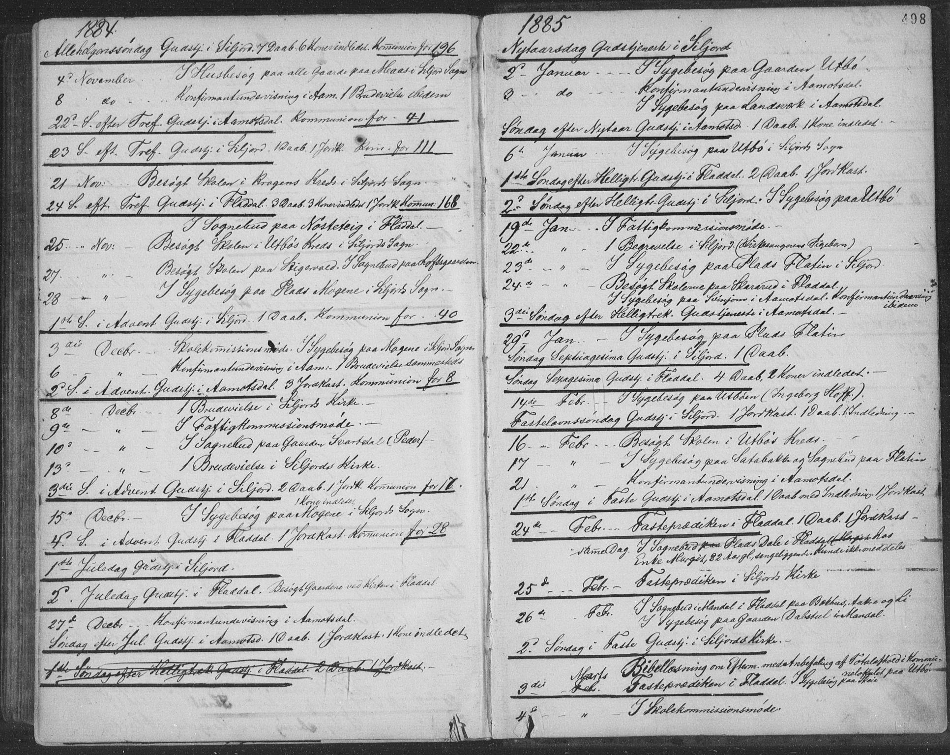 SAKO, Seljord kirkebøker, F/Fa/L0014: Ministerialbok nr. I 14, 1877-1886, s. 498