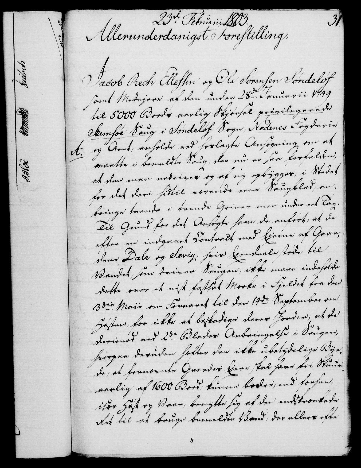 RA, Rentekammeret, Kammerkanselliet, G/Gf/Gfa/L0085: Norsk relasjons- og resolusjonsprotokoll (merket RK 52.85), 1803, s. 206