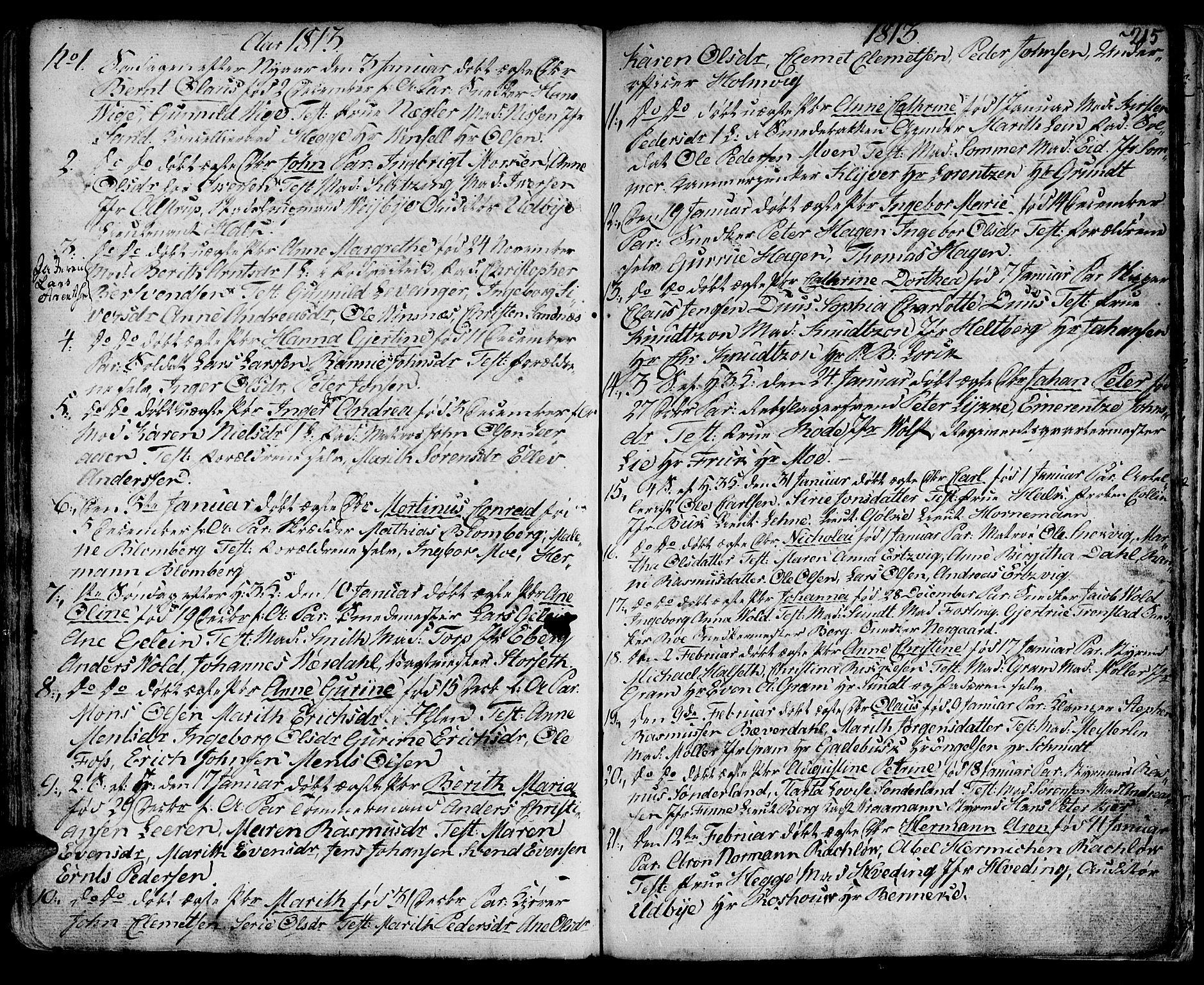 SAT, Ministerialprotokoller, klokkerbøker og fødselsregistre - Sør-Trøndelag, 601/L0039: Ministerialbok nr. 601A07, 1770-1819, s. 215