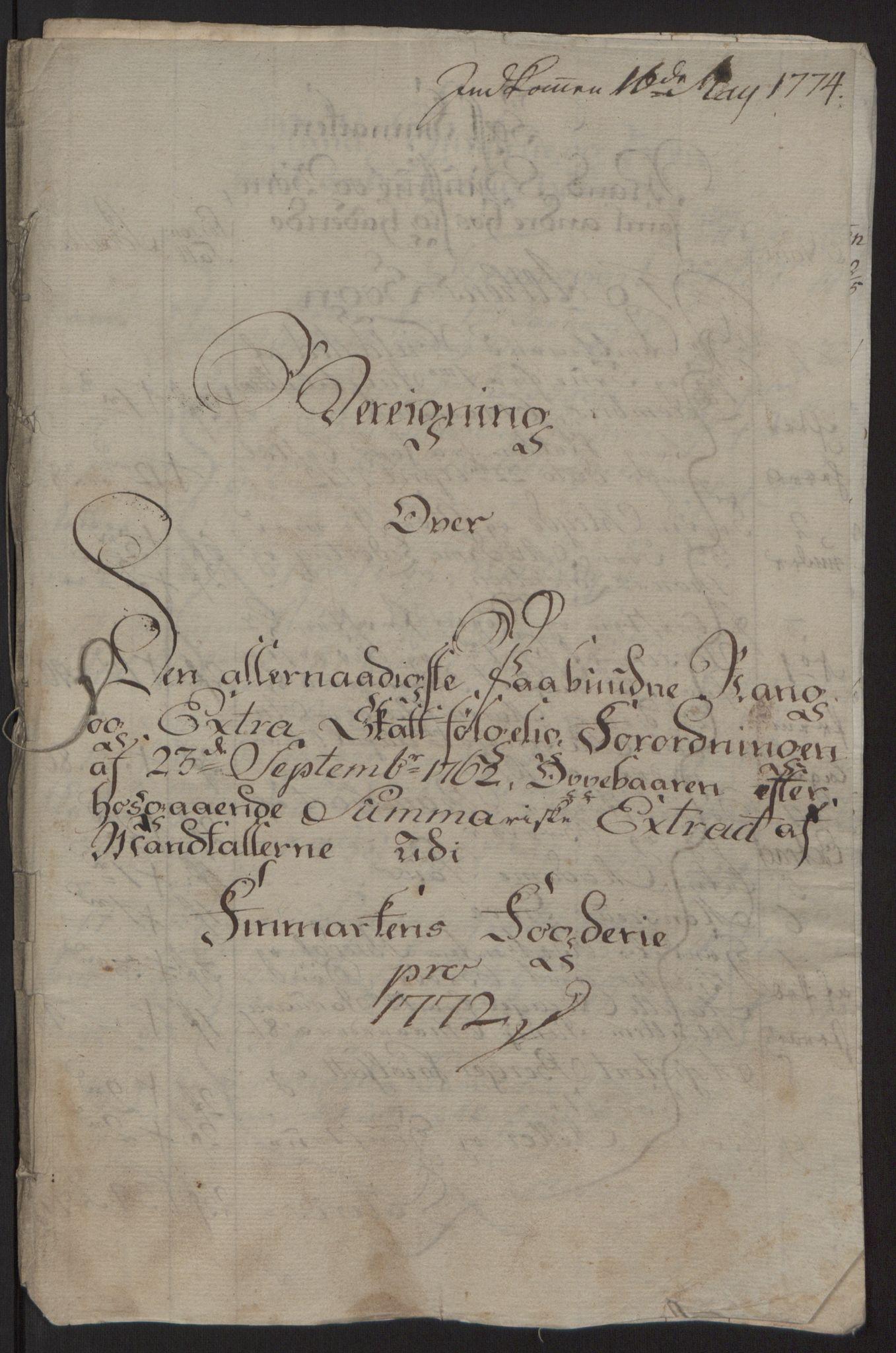 RA, Rentekammeret inntil 1814, Reviderte regnskaper, Fogderegnskap, R69/L4910: Ekstraskatten  Finnmark/Vardøhus, 1762-1772, s. 445