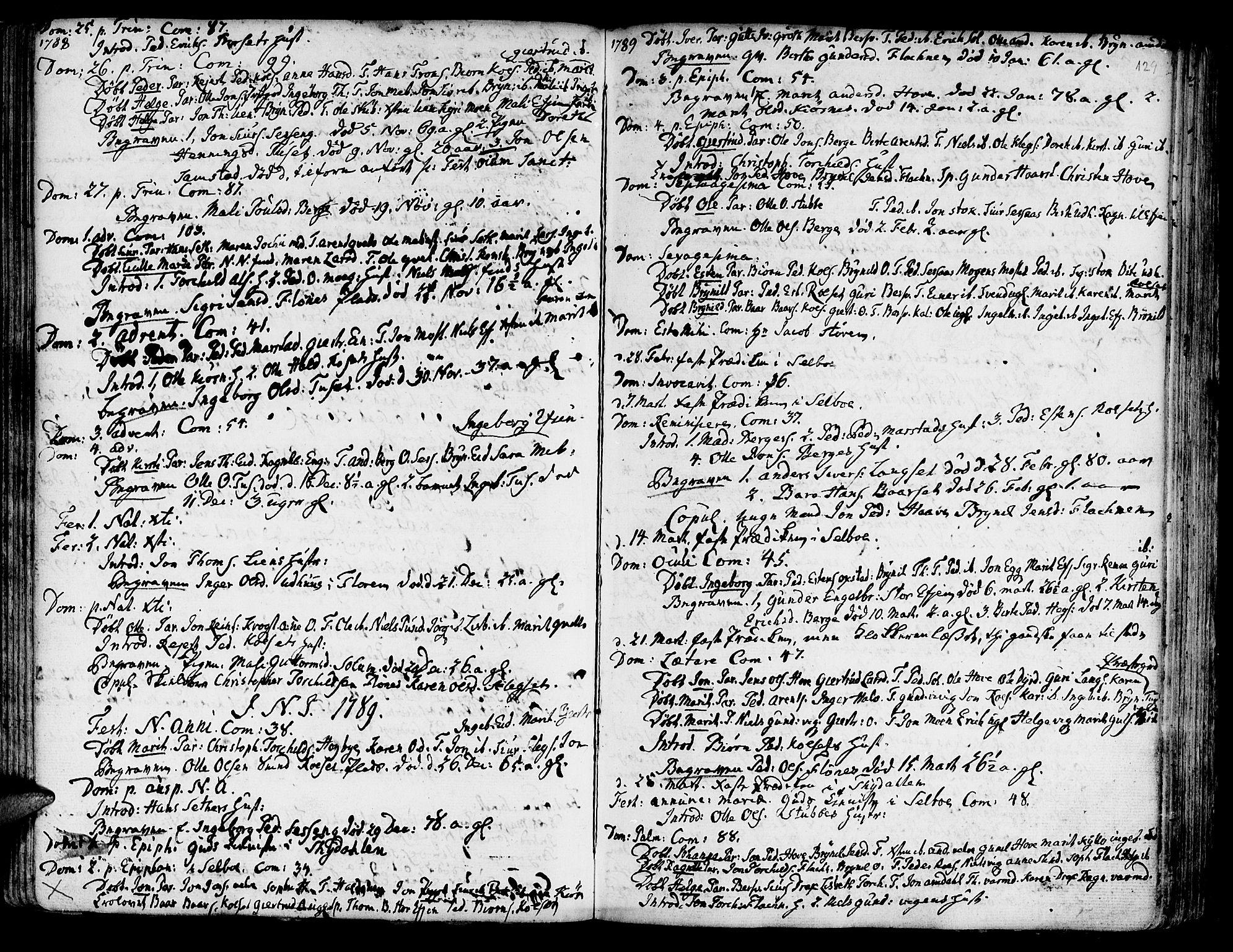 SAT, Ministerialprotokoller, klokkerbøker og fødselsregistre - Sør-Trøndelag, 695/L1138: Ministerialbok nr. 695A02 /1, 1757-1801, s. 129