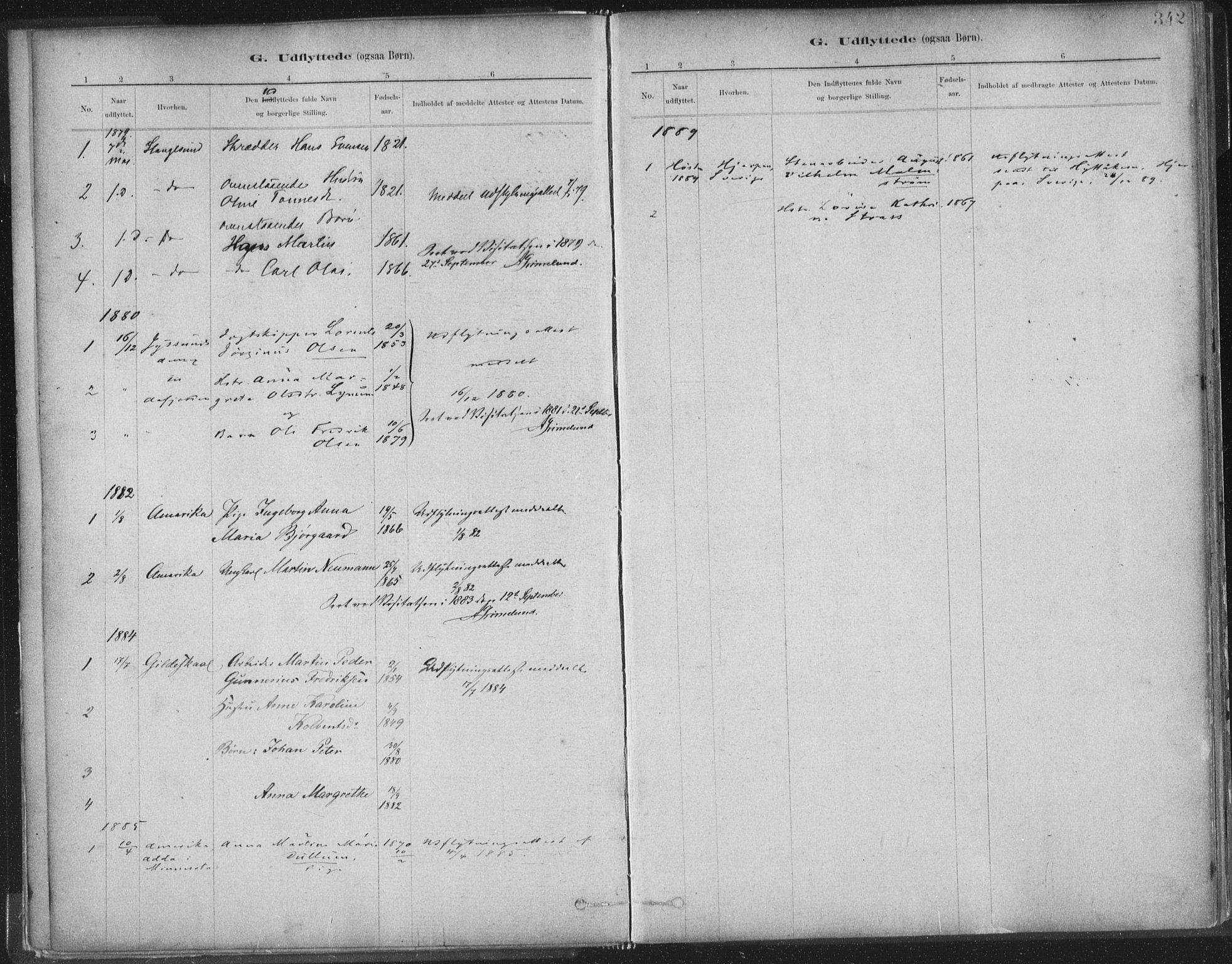 SAT, Ministerialprotokoller, klokkerbøker og fødselsregistre - Sør-Trøndelag, 603/L0163: Ministerialbok nr. 603A02, 1879-1895, s. 342