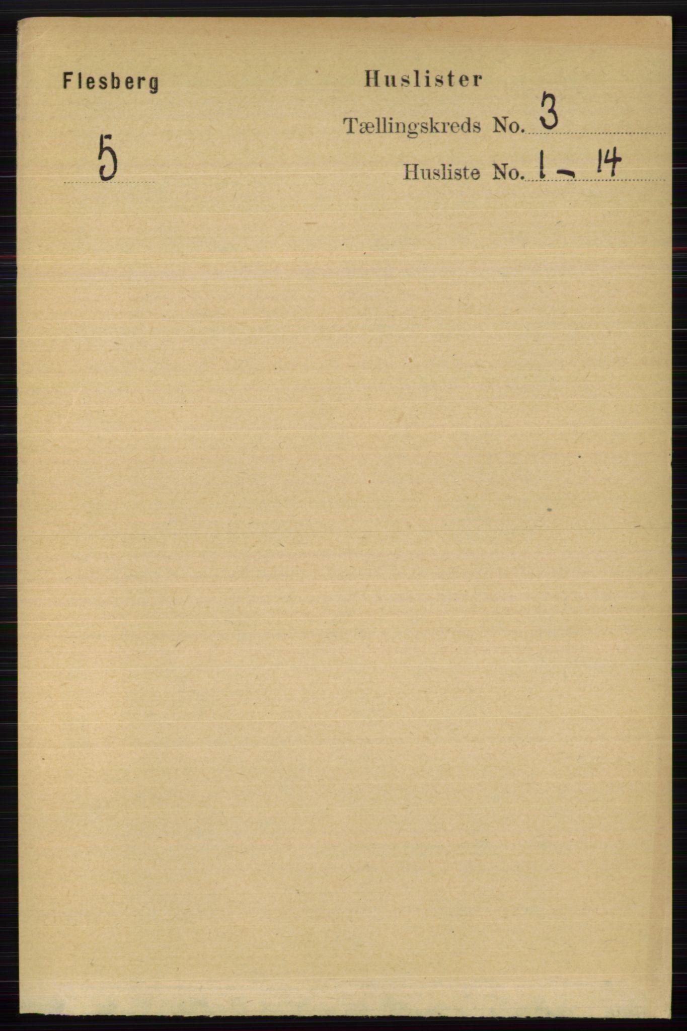 RA, Folketelling 1891 for 0631 Flesberg herred, 1891, s. 393