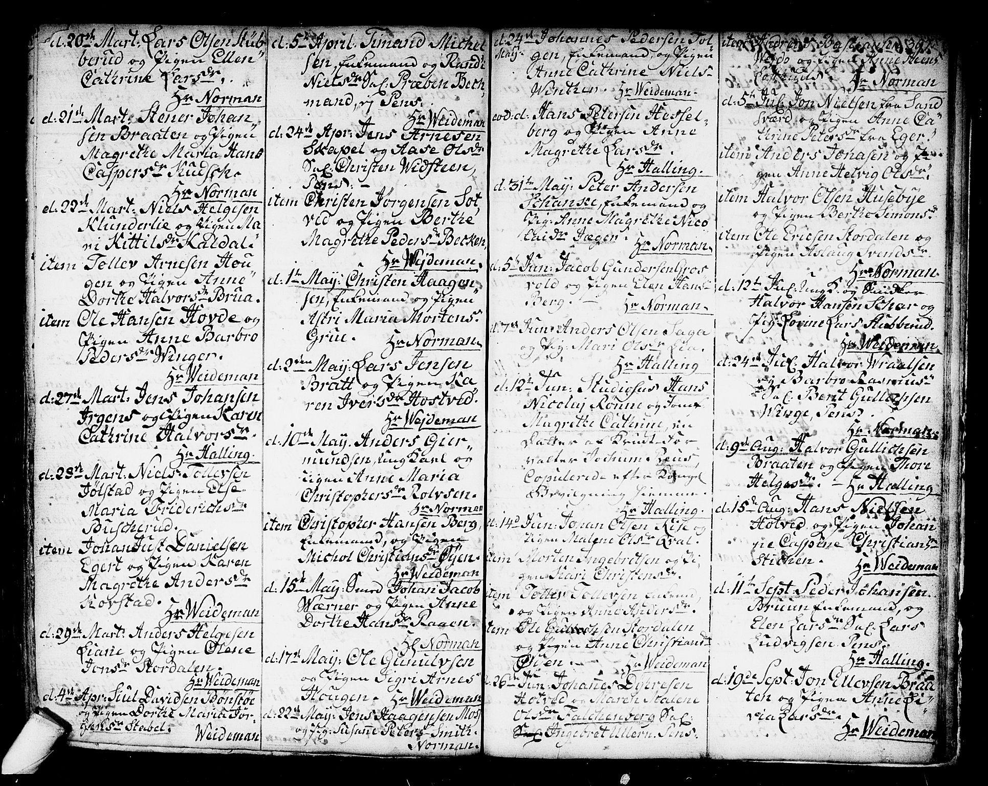 SAKO, Kongsberg kirkebøker, F/Fa/L0006: Ministerialbok nr. I 6, 1783-1797, s. 397