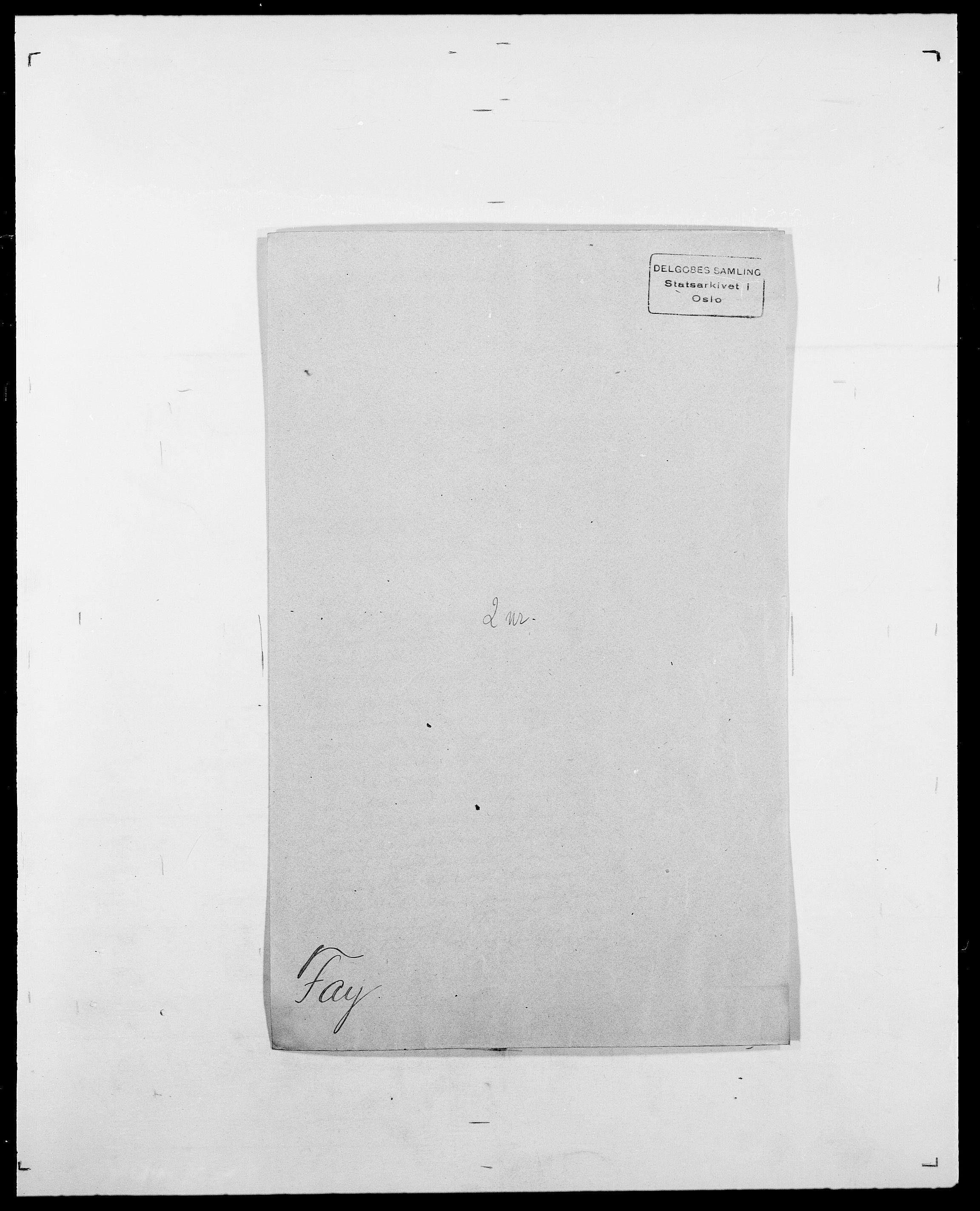 SAO, Delgobe, Charles Antoine - samling, D/Da/L0011: Fahlander - Flood, Flod, s. 256