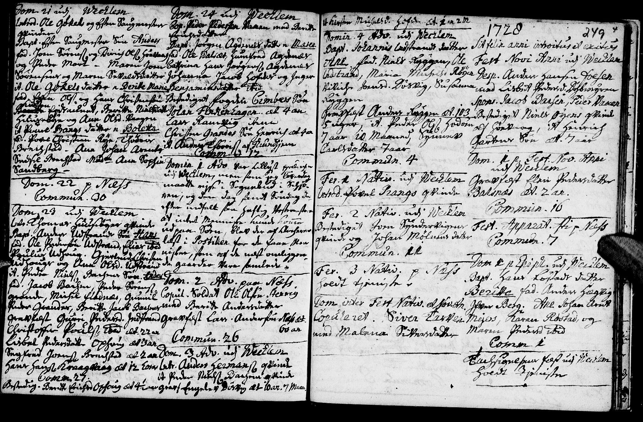 SAT, Ministerialprotokoller, klokkerbøker og fødselsregistre - Sør-Trøndelag, 659/L0731: Ministerialbok nr. 659A01, 1709-1731, s. 248-249
