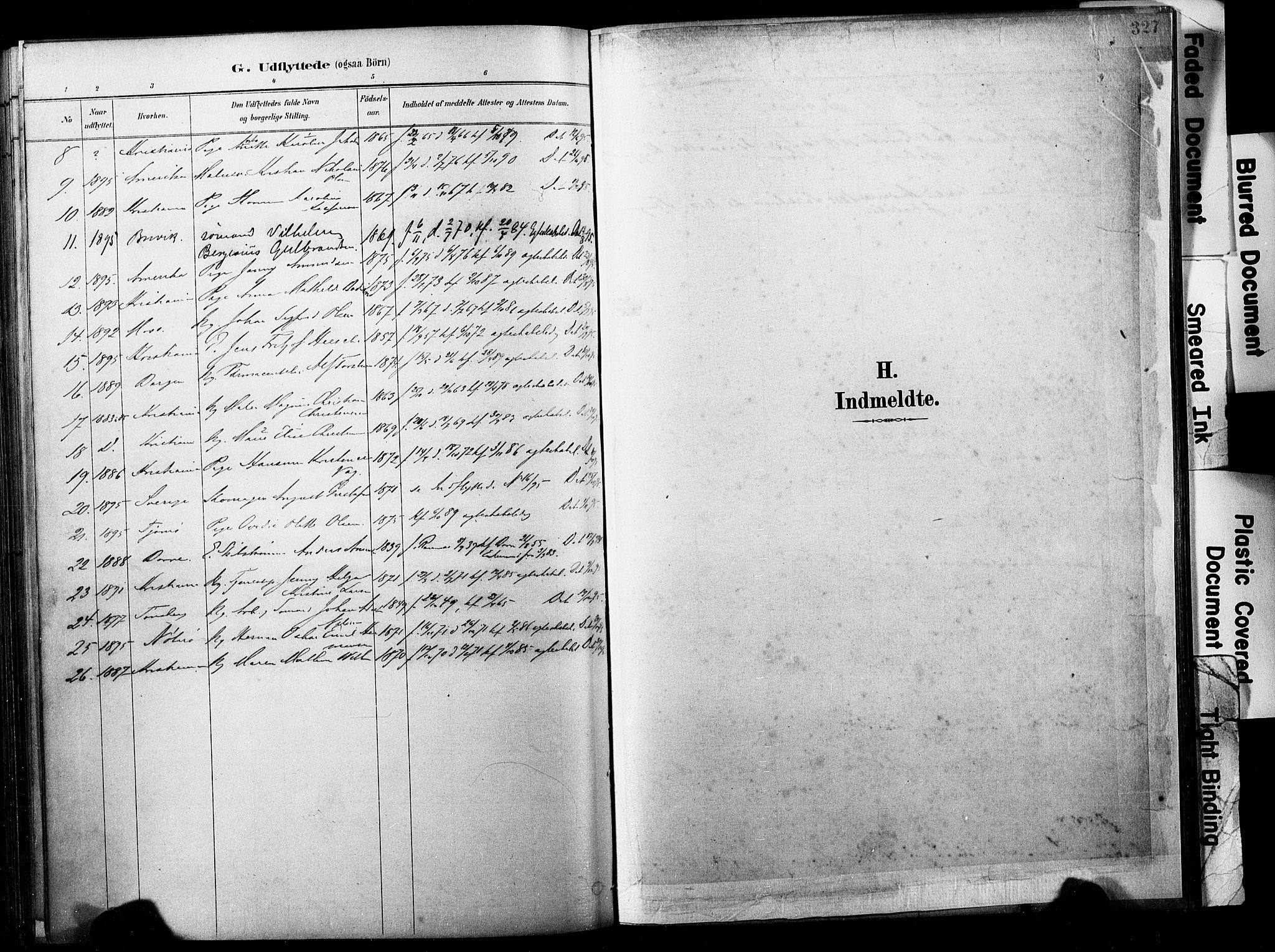 SAKO, Horten kirkebøker, F/Fa/L0004: Ministerialbok nr. 4, 1888-1895, s. 327