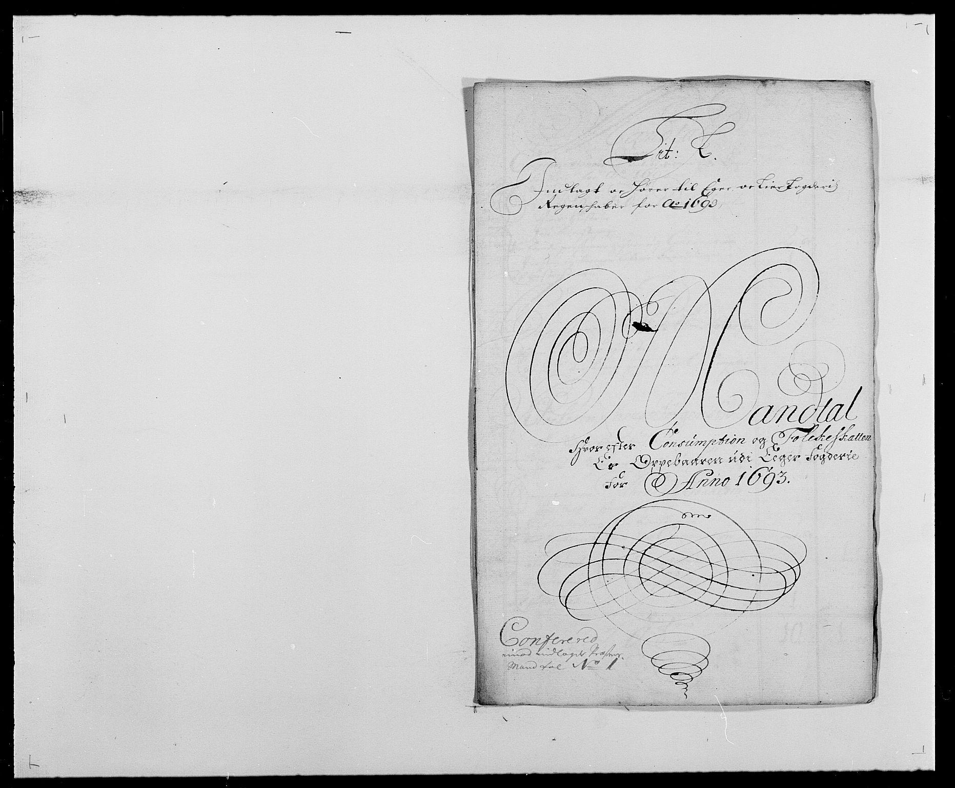 RA, Rentekammeret inntil 1814, Reviderte regnskaper, Fogderegnskap, R28/L1690: Fogderegnskap Eiker og Lier, 1692-1693, s. 213