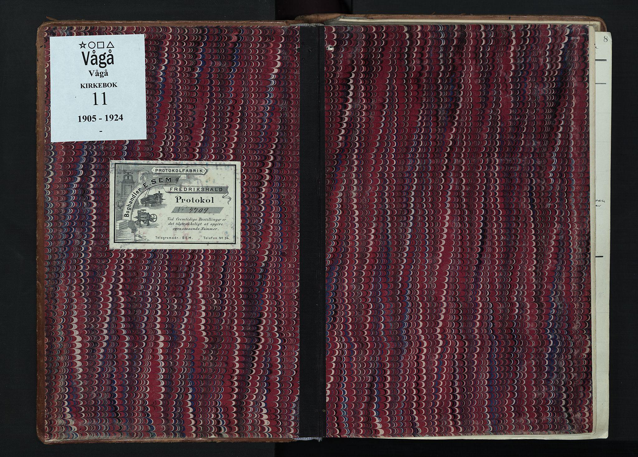 SAH, Vågå prestekontor, Ministerialbok nr. 11, 1905-1924