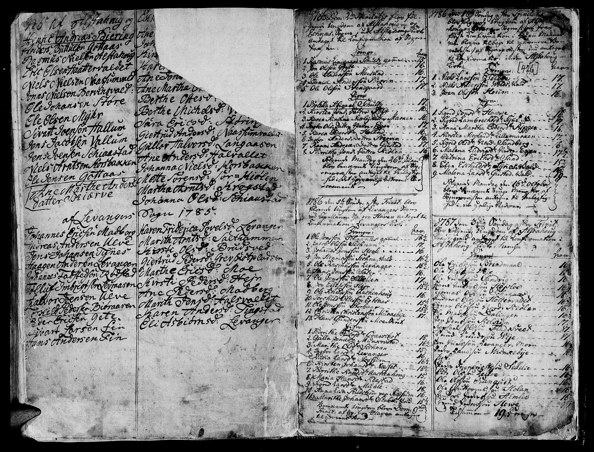 SAT, Ministerialprotokoller, klokkerbøker og fødselsregistre - Nord-Trøndelag, 717/L0141: Ministerialbok nr. 717A01, 1747-1803, s. 425-426