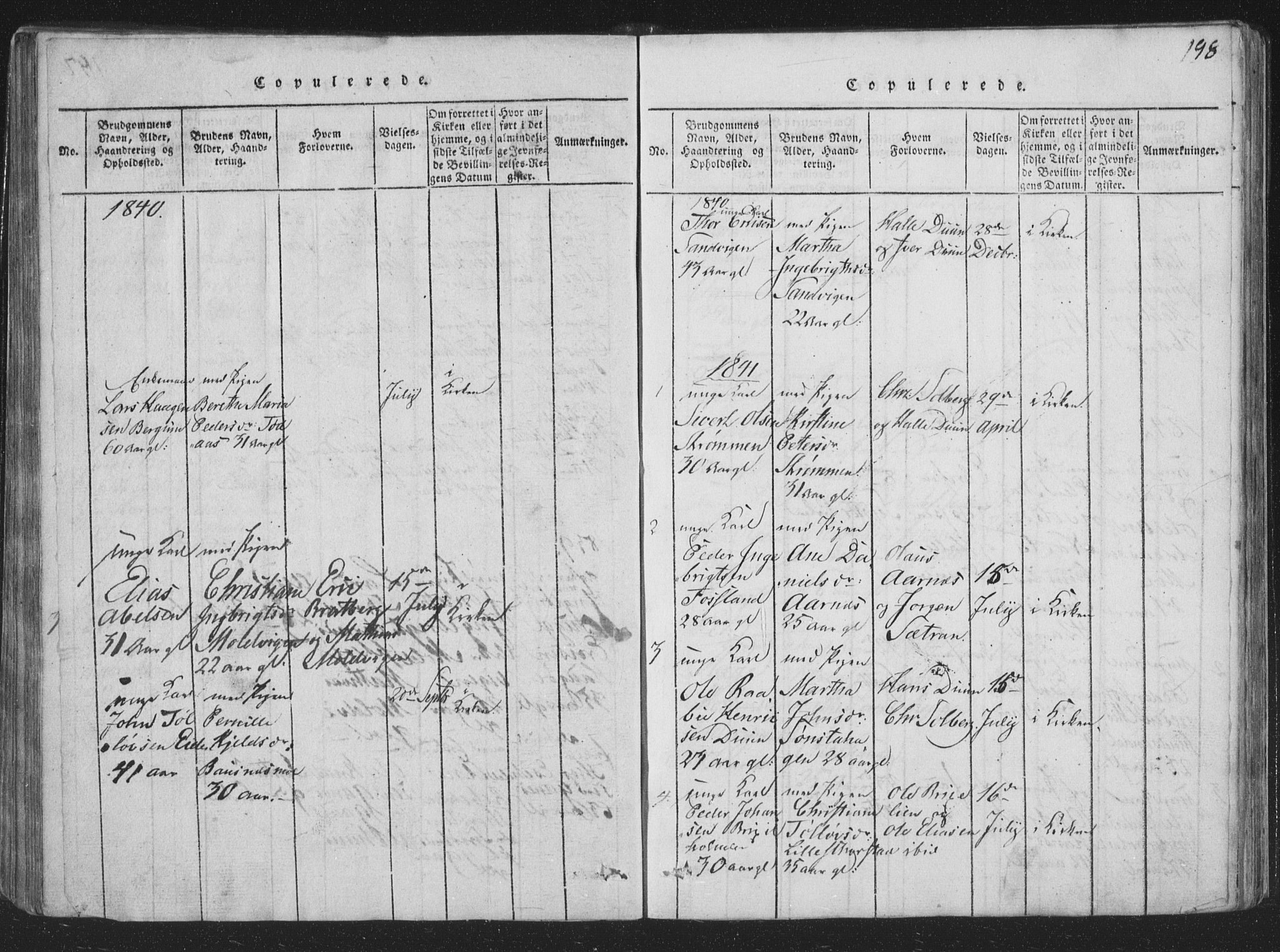 SAT, Ministerialprotokoller, klokkerbøker og fødselsregistre - Nord-Trøndelag, 773/L0613: Ministerialbok nr. 773A04, 1815-1845, s. 198