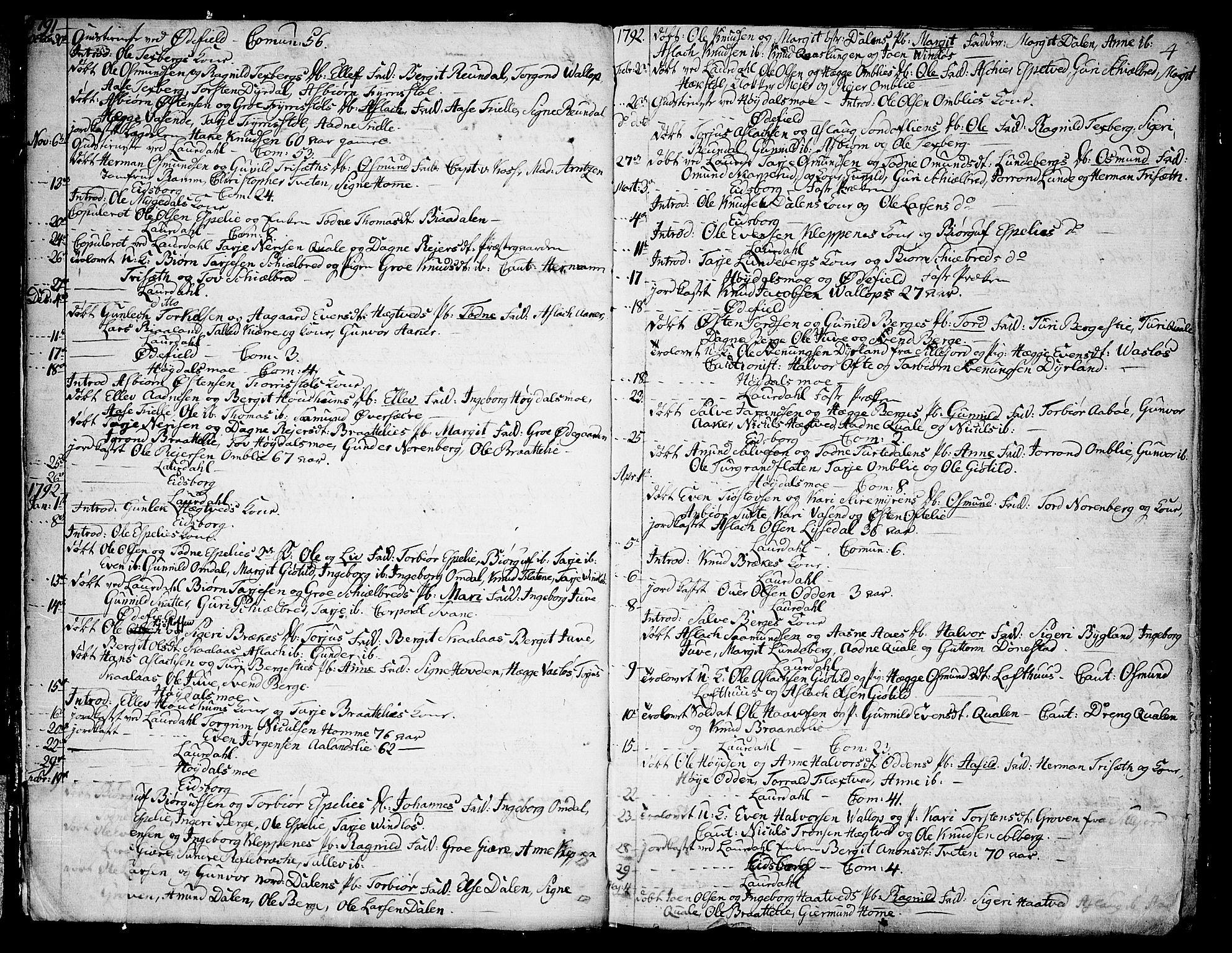 SAKO, Lårdal kirkebøker, F/Fa/L0004: Ministerialbok nr. I 4, 1790-1814, s. 4
