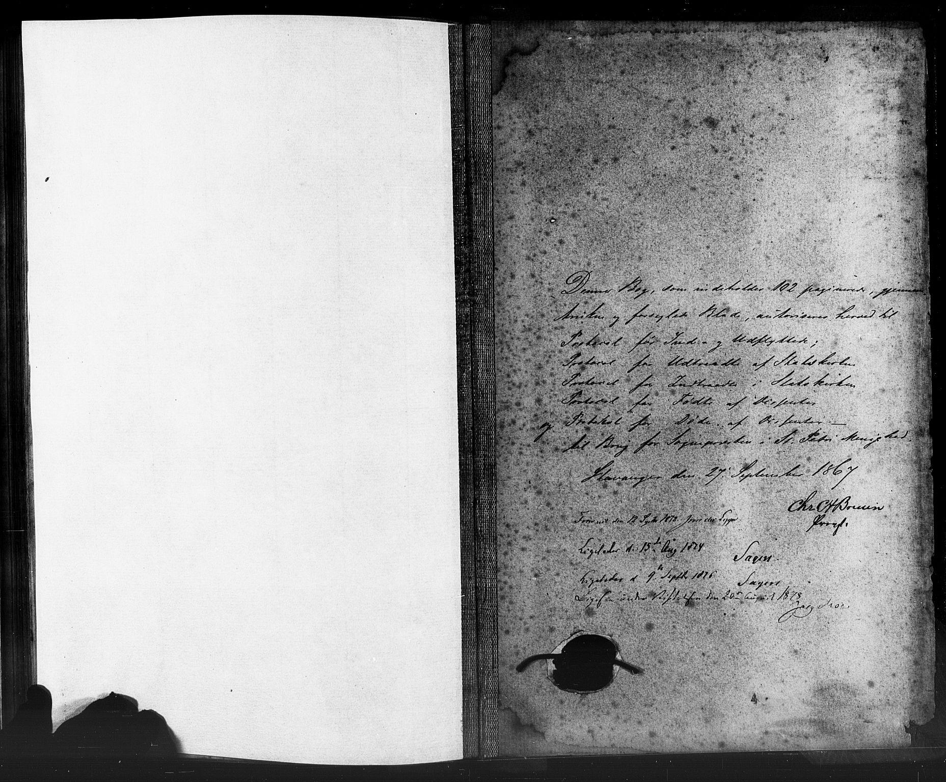 SAST, St. Petri sokneprestkontor, 30/30BA/L0006: Ministerialbok nr. A 6, 1863-1878