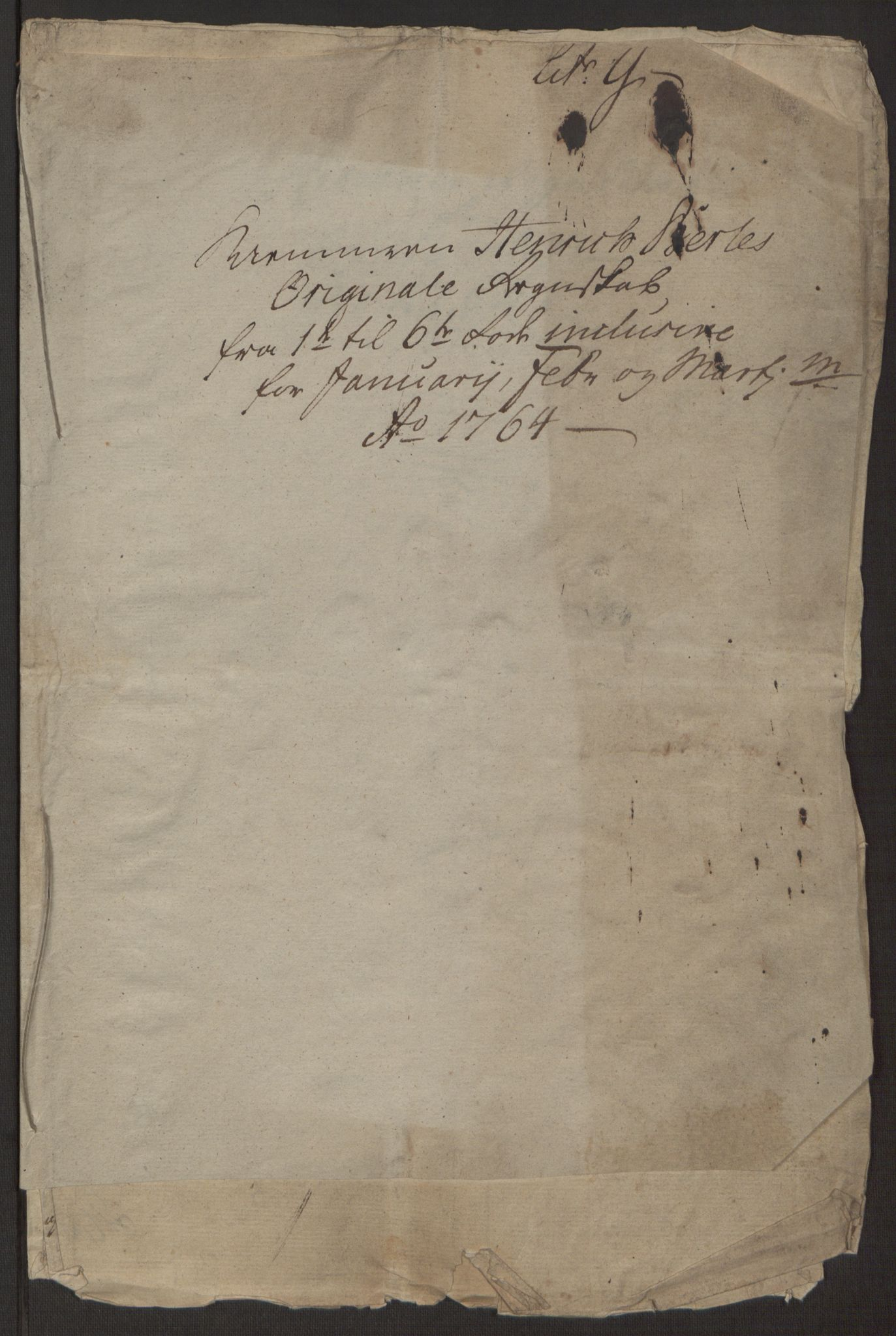RA, Rentekammeret inntil 1814, Reviderte regnskaper, Byregnskaper, R/Rp/L0367: [P21] Kontribusjonsregnskap, 1764, s. 43