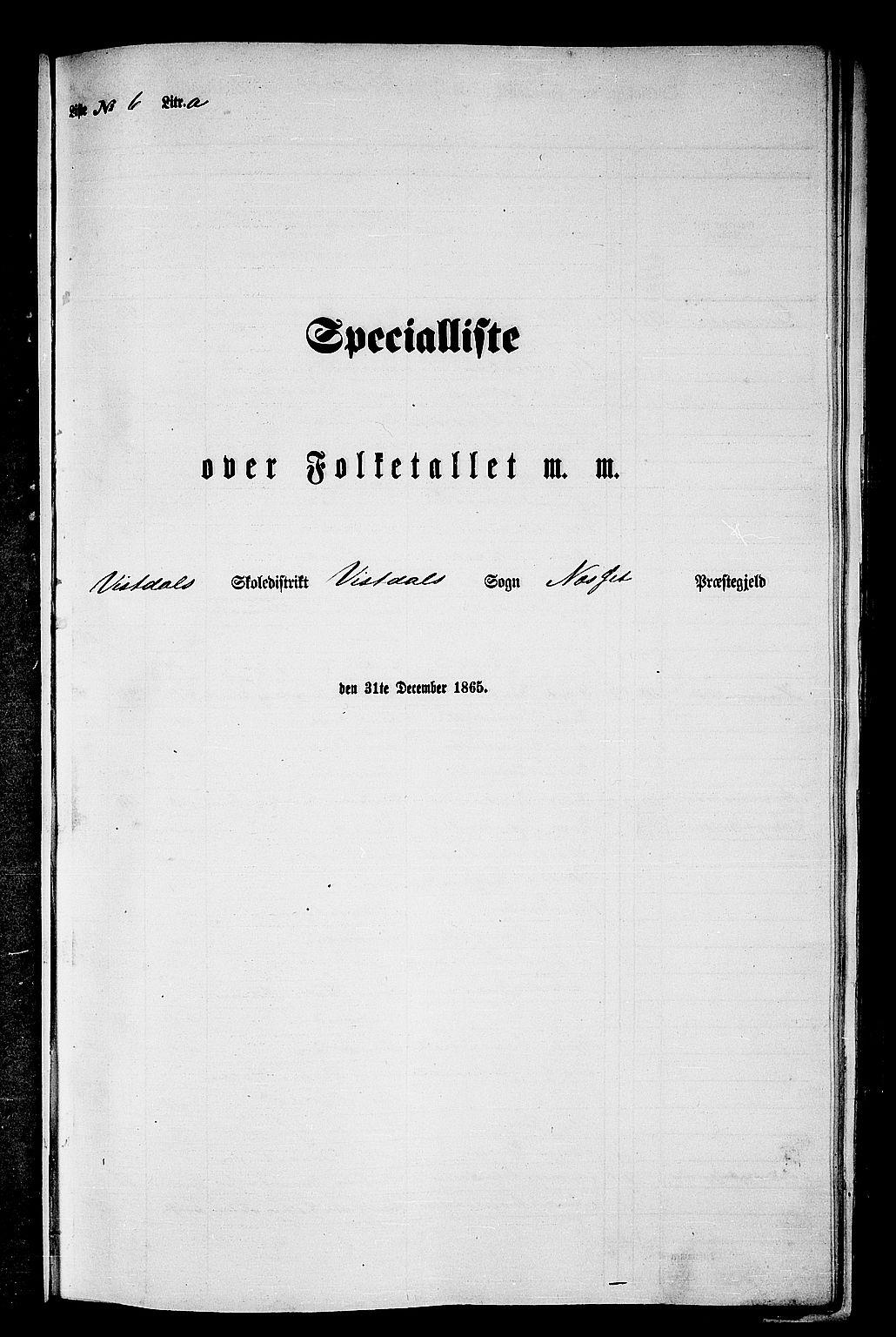 RA, Folketelling 1865 for 1543P Nesset prestegjeld, 1865, s. 121