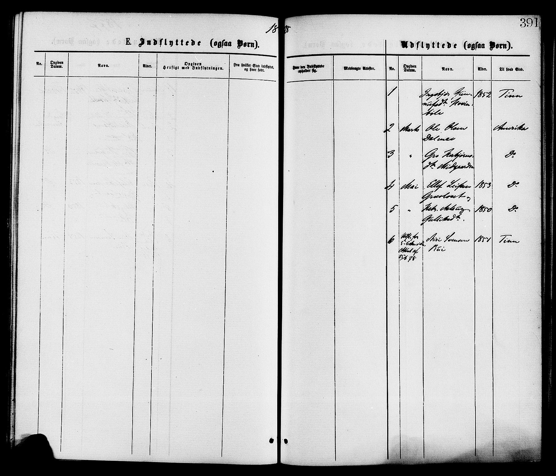 SAKO, Gransherad kirkebøker, F/Fa/L0004: Ministerialbok nr. I 4, 1871-1886, s. 391
