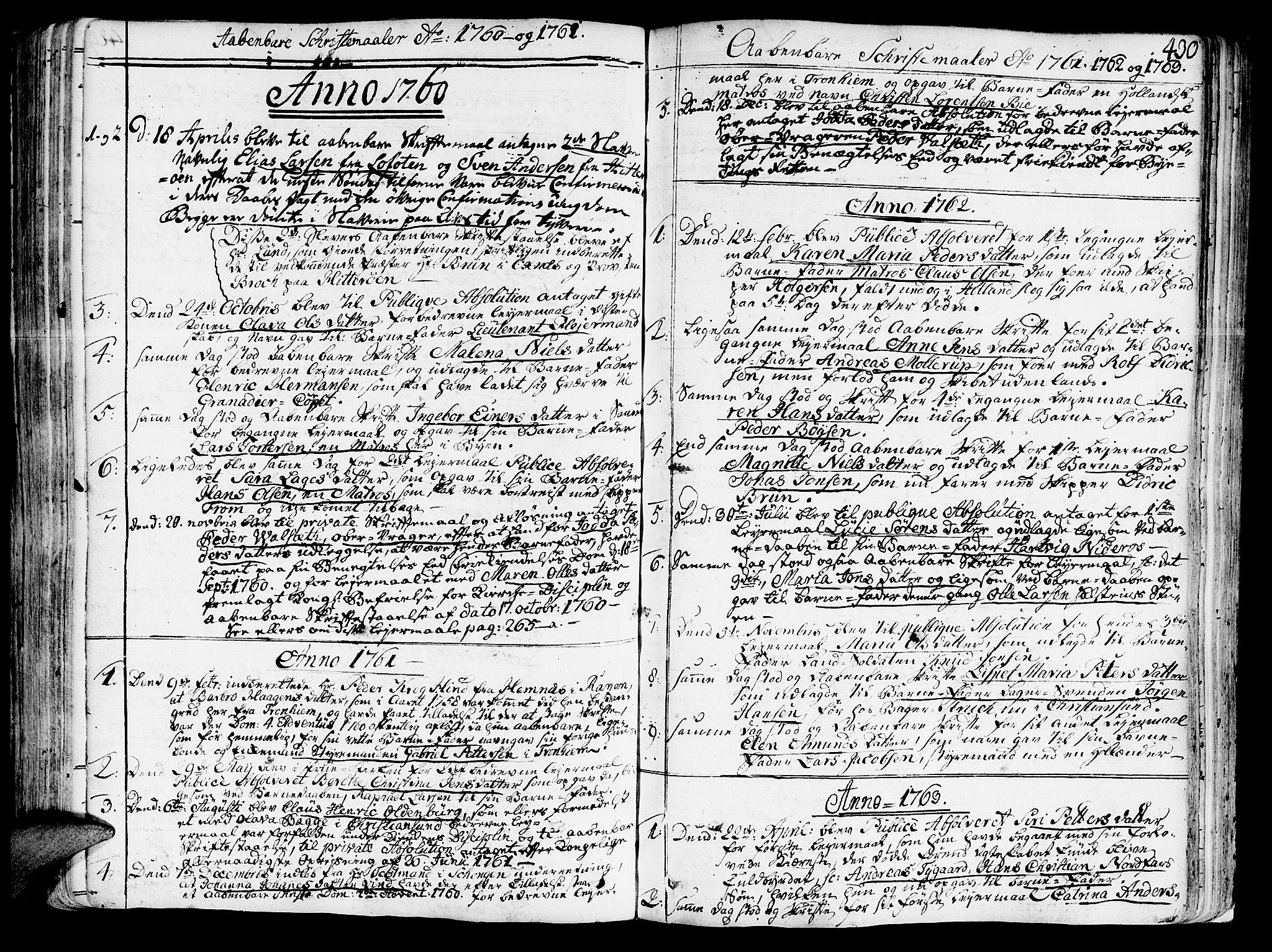 SAT, Ministerialprotokoller, klokkerbøker og fødselsregistre - Sør-Trøndelag, 602/L0103: Ministerialbok nr. 602A01, 1732-1774, s. 430