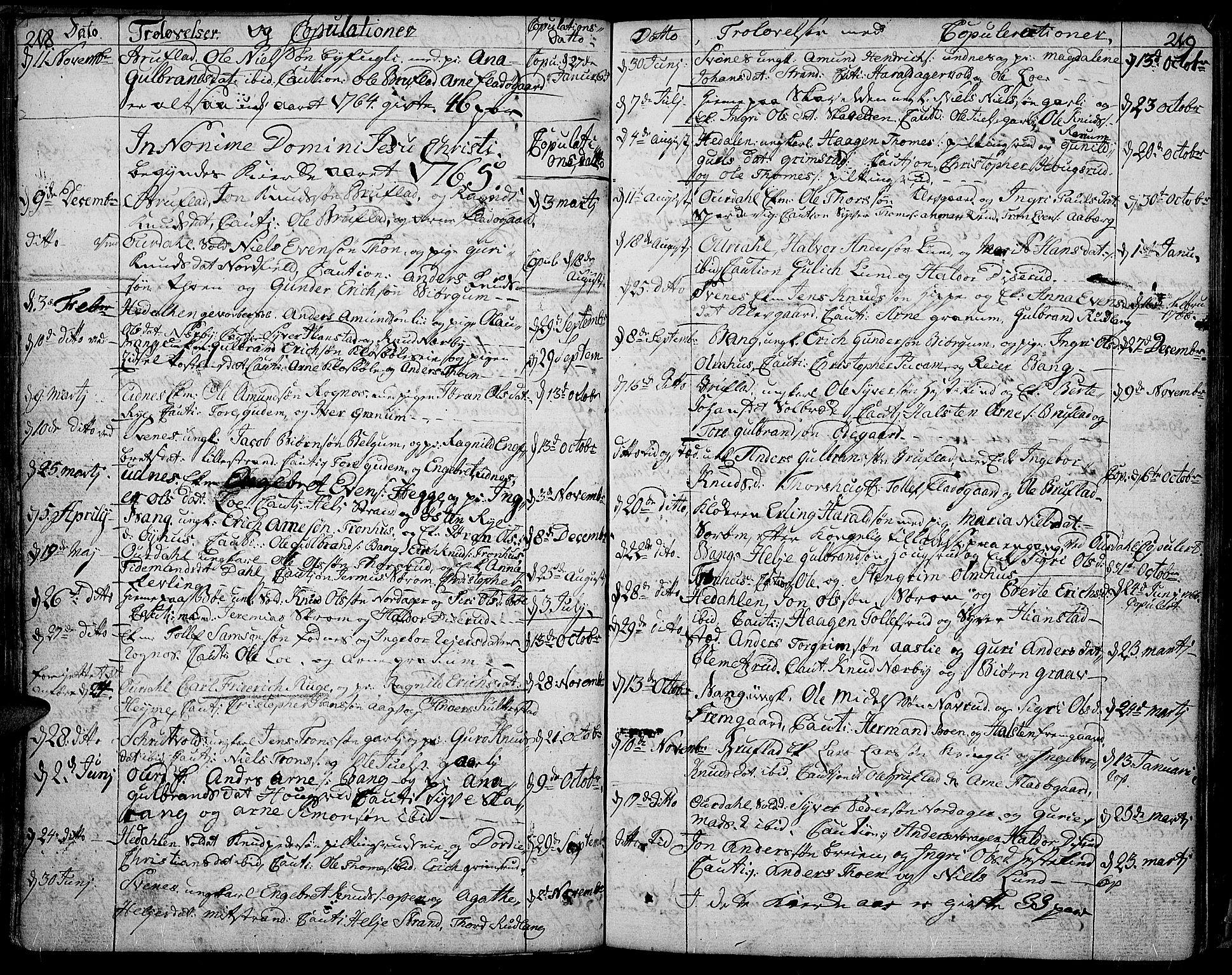 SAH, Aurdal prestekontor, Ministerialbok nr. 5, 1763-1781, s. 218-219
