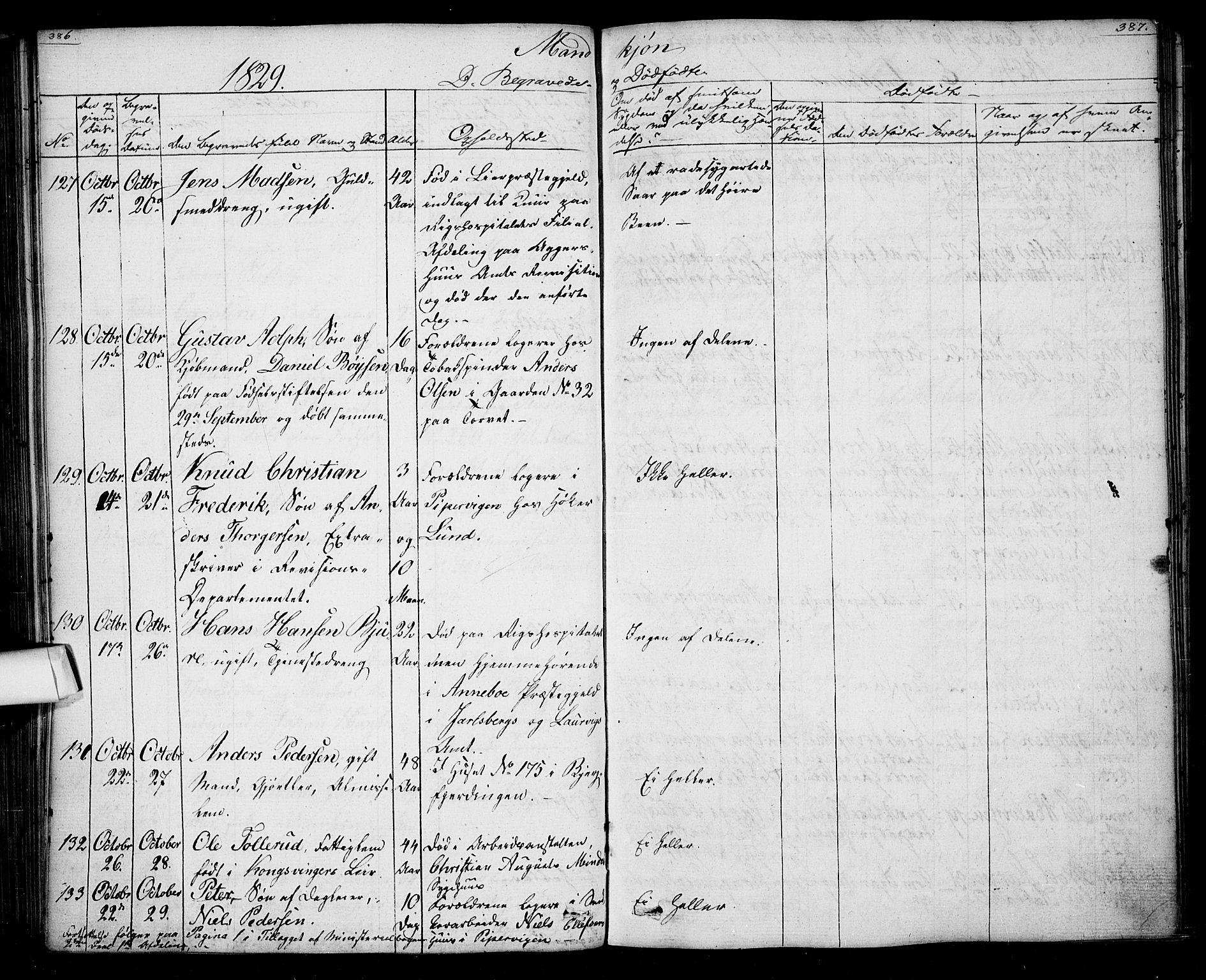 SAO, Oslo domkirke Kirkebøker, F/Fa/L0022: Ministerialbok nr. 22, 1824-1829, s. 386-387