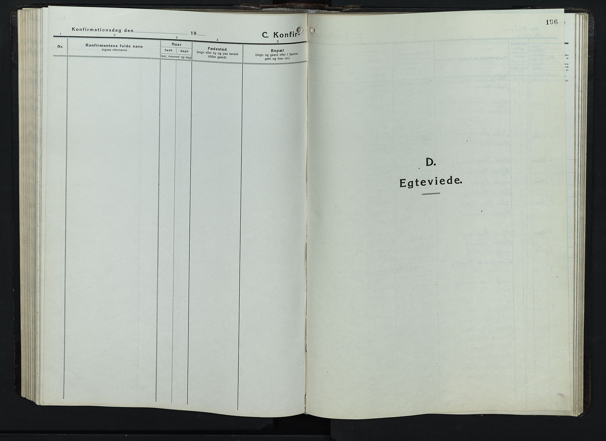 SAH, Balke prestekontor, Klokkerbok nr. 1, 1920-1955, s. 196